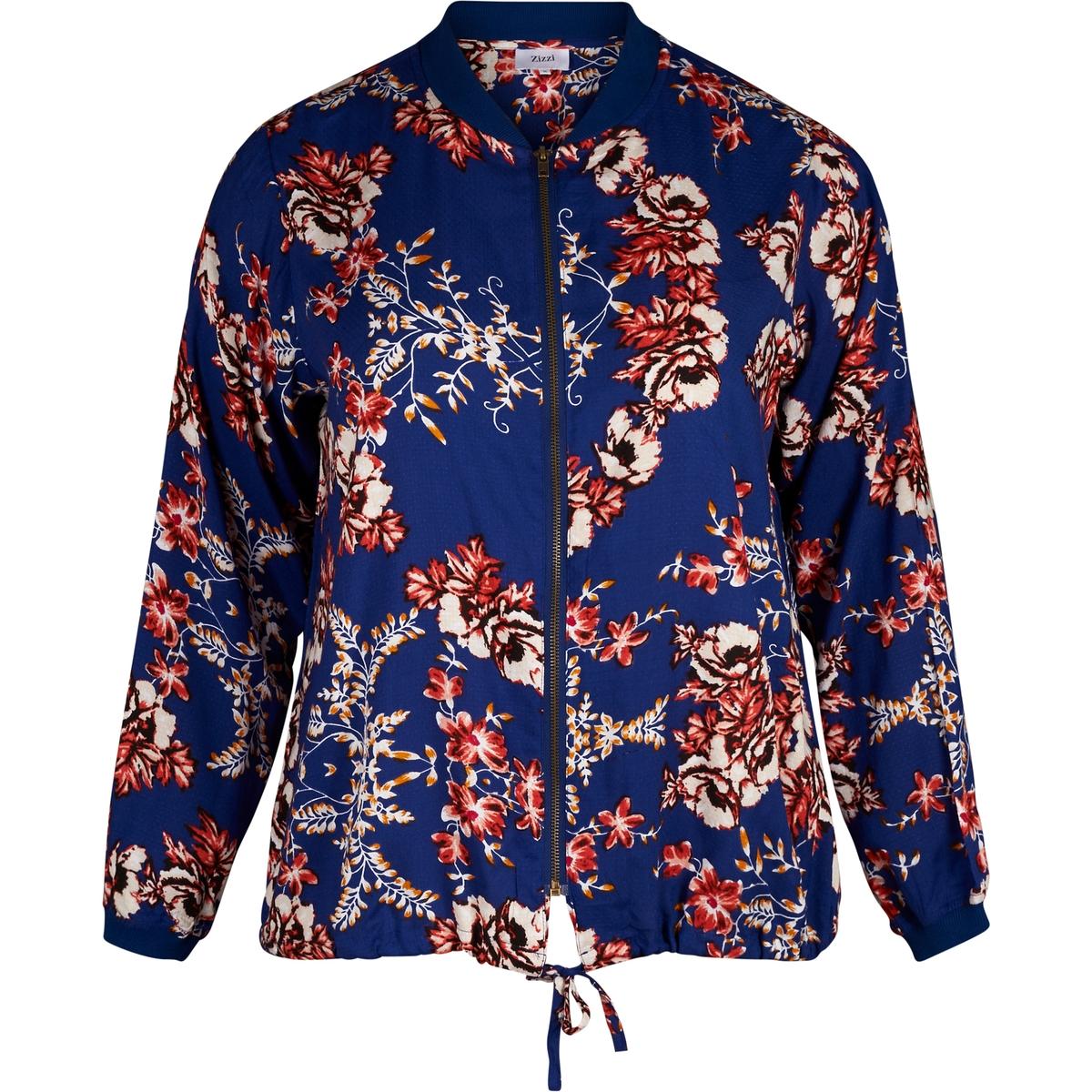 Куртка-бомбер свободного покрояОписание:Детали •  Бомбер •  Покрой бойфренд, свободный •  Воротник-поло, рубашечный  •  Рисунок-принтСостав и уход •  100% вискоза •  Следуйте советам по уходу, указанным на этикеткеТовар из коллекции больших размеров<br><br>Цвет: набивной рисунок