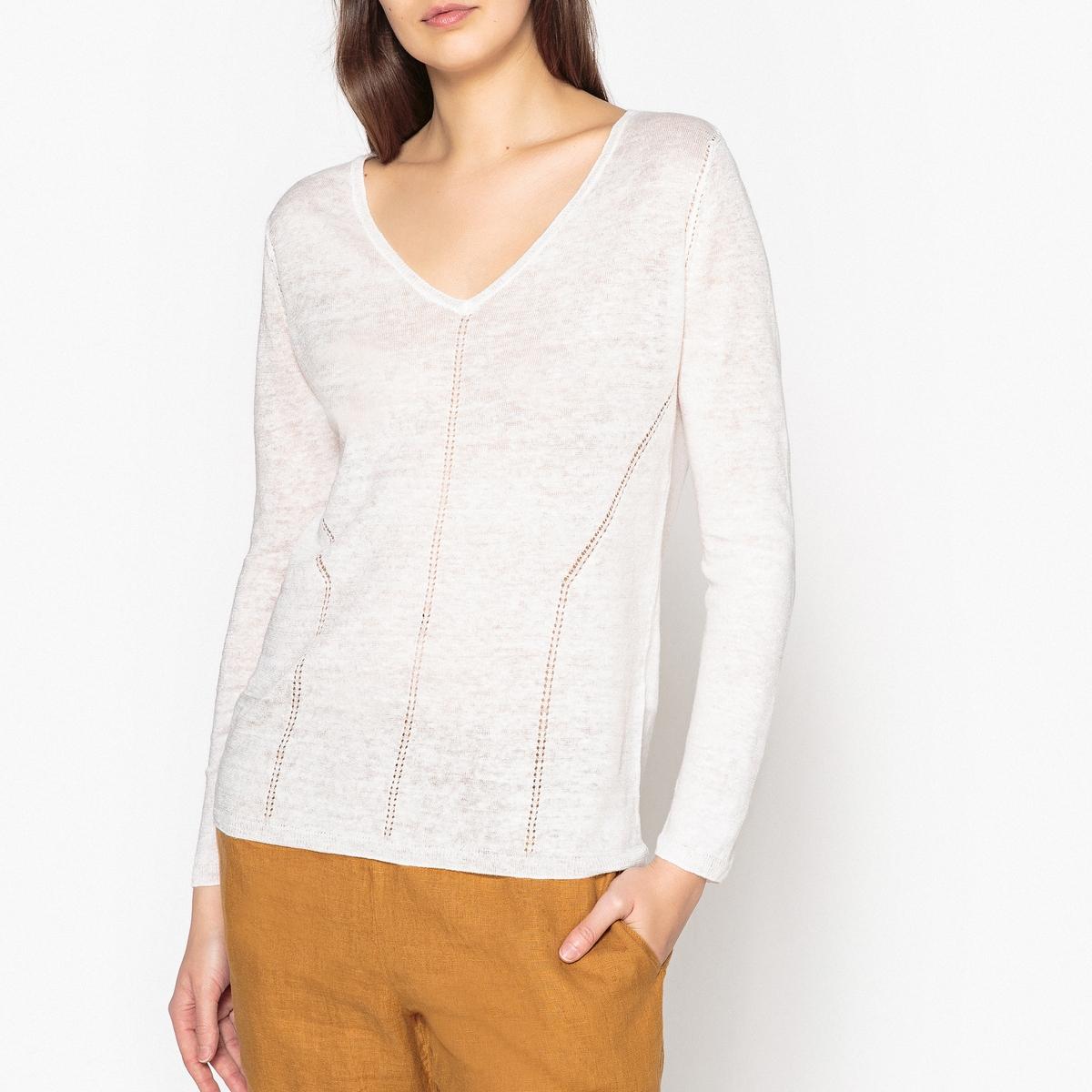 Пуловер ажурный ORANIE, 100% льна ажурный пуловер quelle ajc 787037