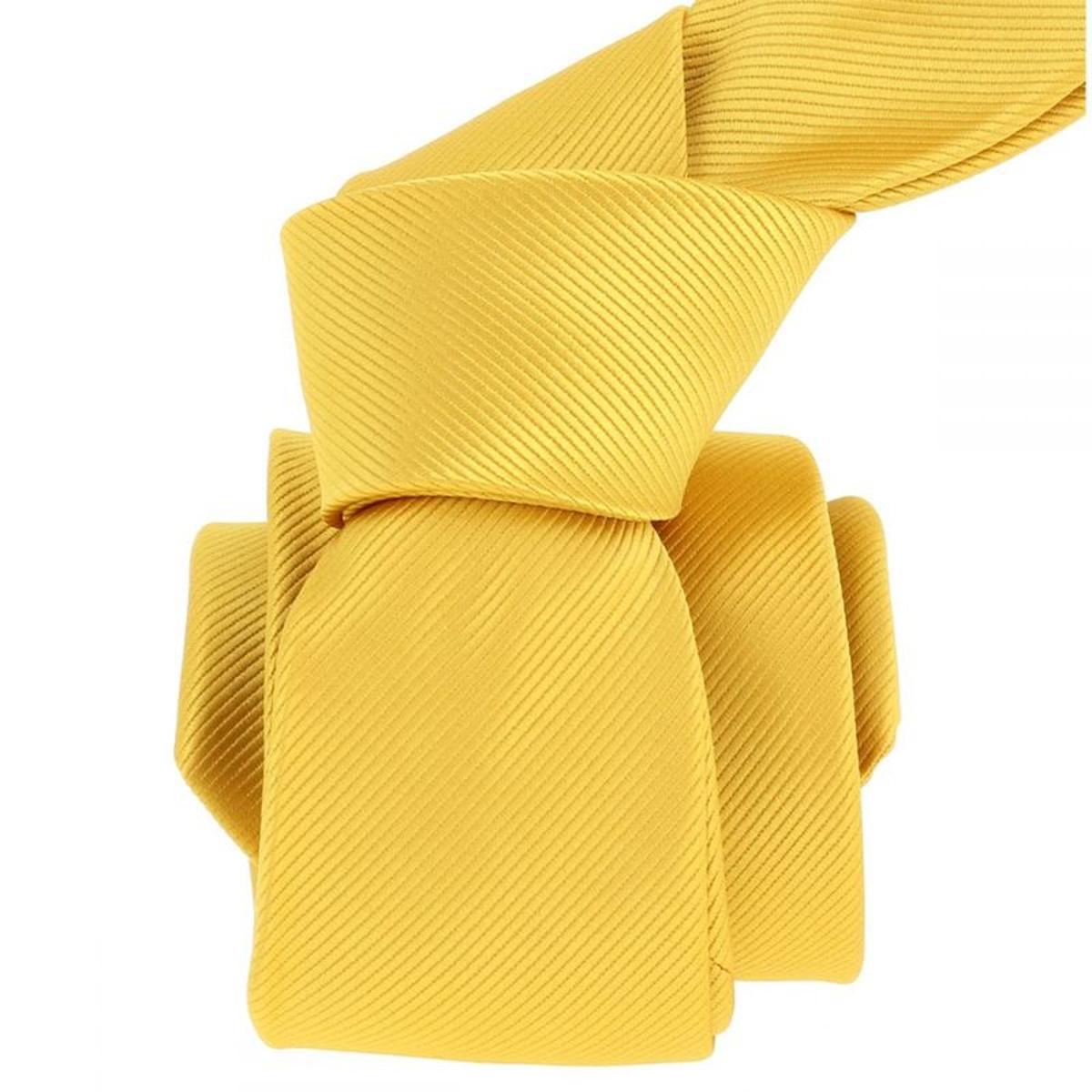 Cravate Jaune poussin. Microfibre Uni