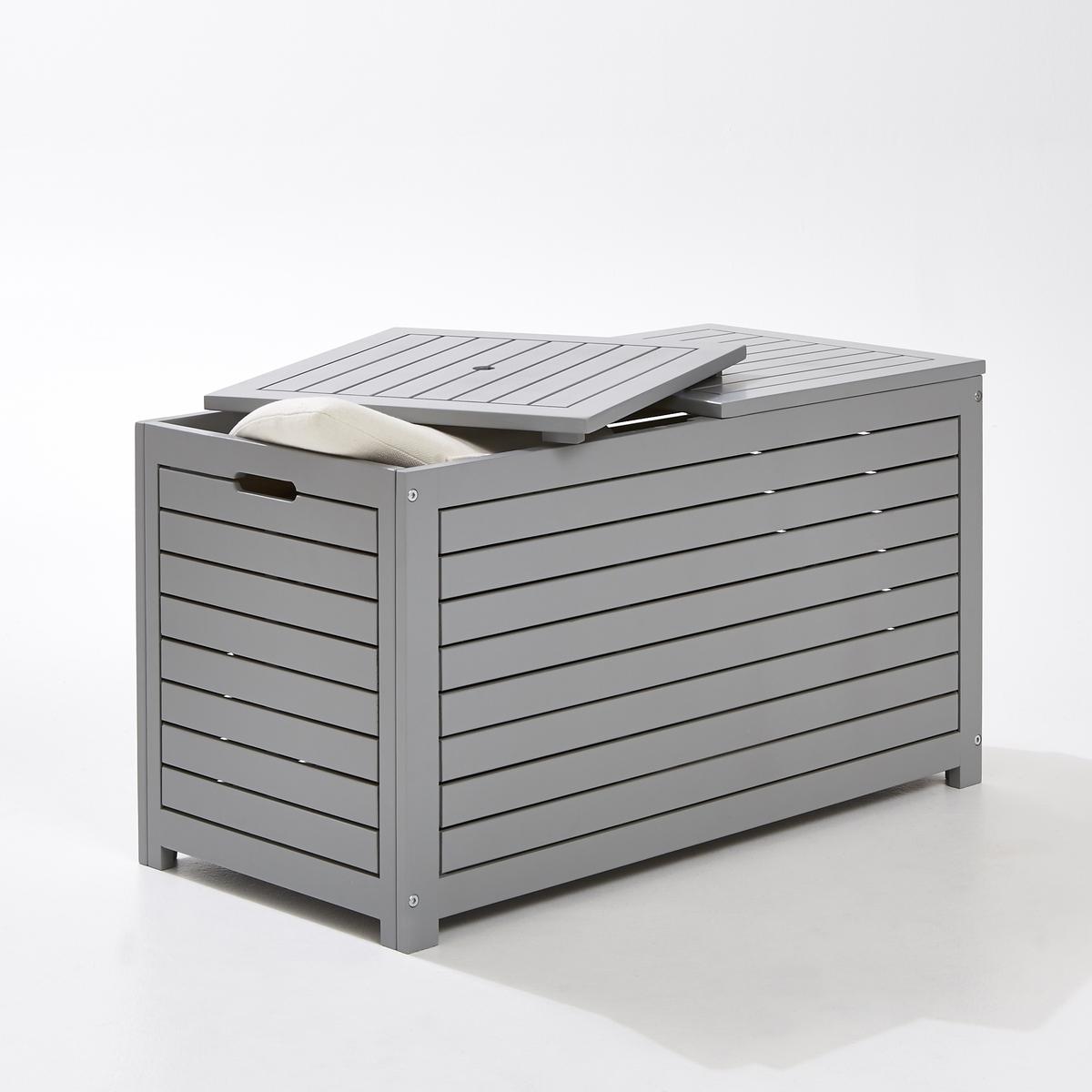 Ящик для вещей прямоугольный из акацииЯщик для хранения, акация : В саду, на террасе или балконе этот прямоугольный ящик для вещей большой вместимости, эстетичный и очень практичный, позволит разместить, защитив он непогоды, ваши подушки, игрушки... Характеристики : Акация, морениеСочетается с ящиком для вещей квадратной формы (продается на сайте laredoute.ruРазмеры : Ширина : 90 смГлубина : 45 см.Высота : 50 см.Размеры и вес упаковки :1 упаковкаДлина 94 см.Ширина 51смВысота 13.5см Вес: 14 кг.Качество :Акация обладает хорошими механическими свойствами (прочность, устойчивость к насекомым и грибам, устойчивость к непогоде и чередованию сухой и влажной погоды).Доставка :Ящик продается в разобранном виде. Возможна доставка до квартиры !Внимание ! Убедитесь, что товар возможно доставить на дом, учитывая его габариты (проходит в двери, по лестницам, в лифты).<br><br>Цвет: серый<br>Размер: единый размер