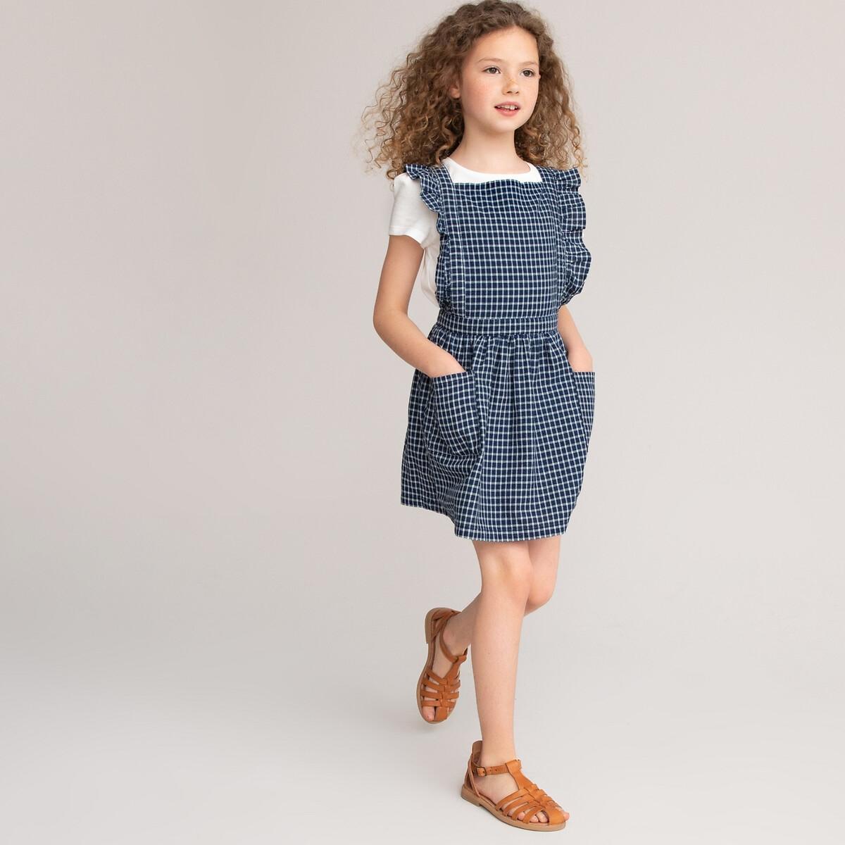 Платье LaRedoute В клетку с воланами 3-12 лет 6 лет - 114 см другие