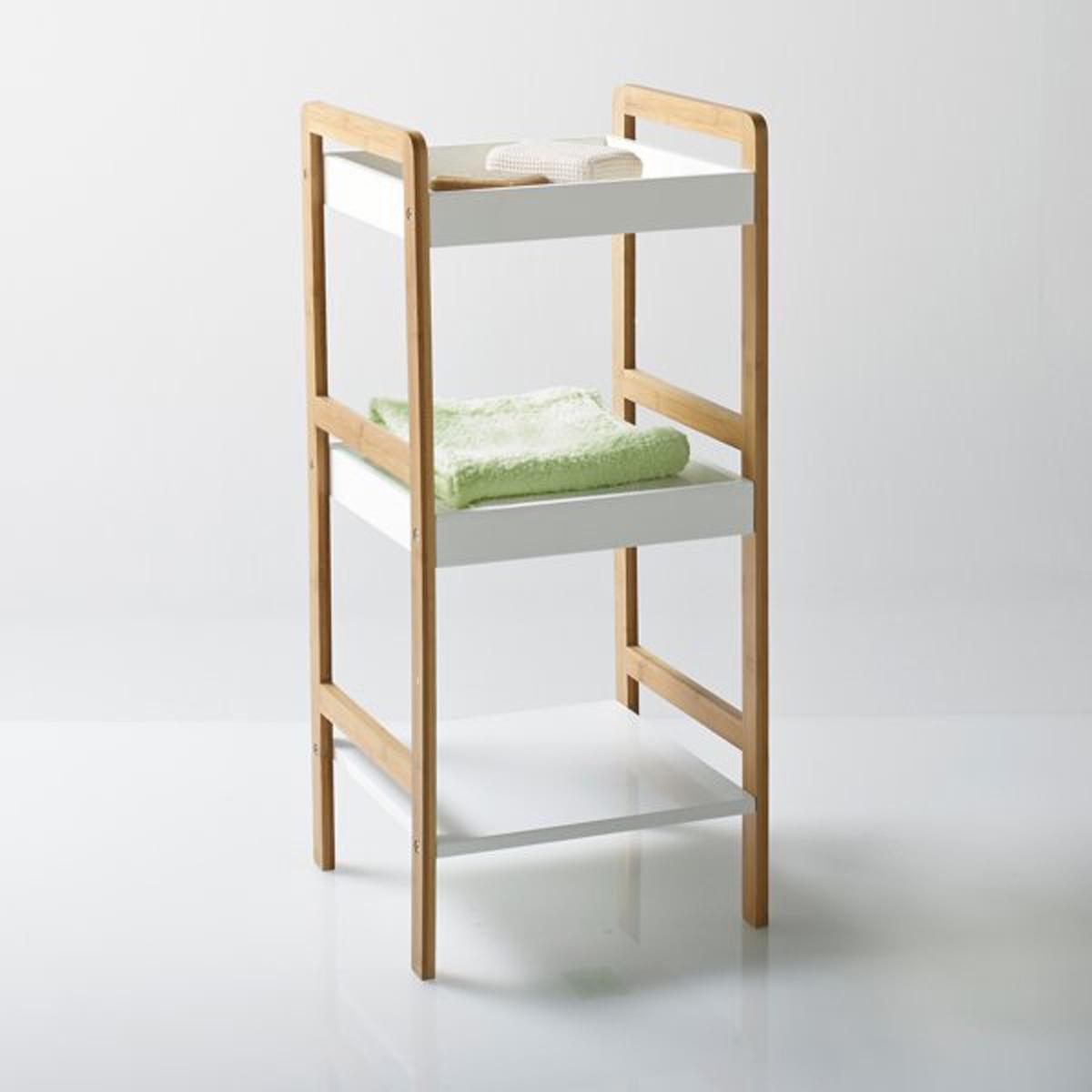 Этажерка для ванной, 3 полки, LindusЭтажерка для ванной из бамбука с 3 полками, Lindus. Сочетание натурального бамбука и покрытого белой краской дерева придаст стиль вашей ванной комнате. Характеристики этажерки для ванной с 3 полками Lindus:Опора из натурального бамбука, покрытого лаком.Полки из покрашенного МДФ, покрытого нитроцеллюлозным лаком.Откройте для себя всю коллекцию Lindus на сайте laredoute.ru.Размеры этажерки для ванной с 3 полками Lindus:Общие размеры:Длина: 36 смВысота: 110 смГлубина: 33 смПолезные размеры:Размер полки: 33 x 33 x 50 см  Размеры и вес упаковки:1 упаковка114,5 x 38 x 13,6 см, 8 кг :.  !! .<br><br>Цвет: белый