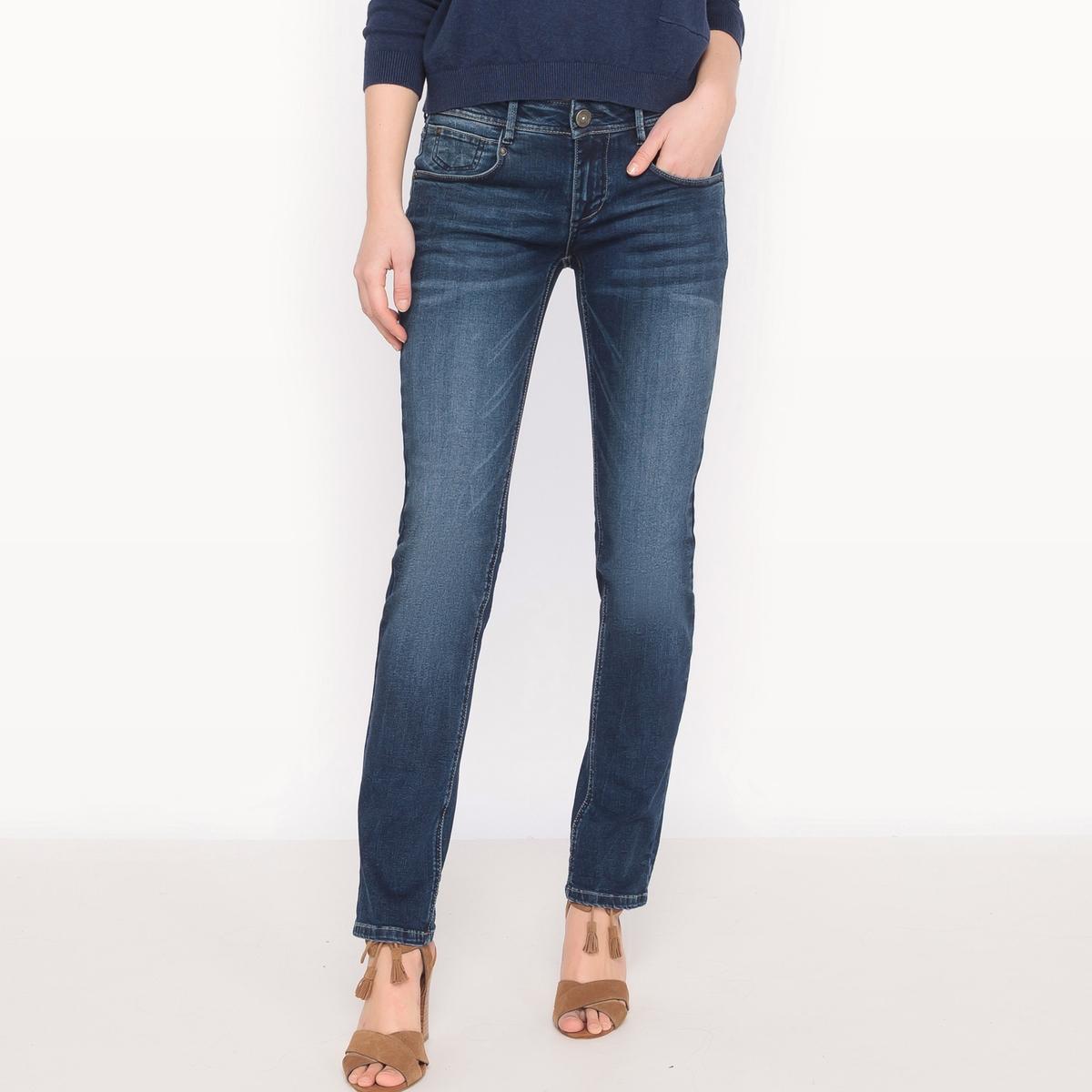 Джинсы прямые CHARLIE, стандартная высота поясаМатериал : 90% хлопка, 8% эластомультиэстера, 2% эластана            Высота пояса : стандартная          Покрой джинсов : классический, прямой          Длина джинсов : длина 32<br><br>Цвет: синий потертый,синий<br>Размер: 24 длина 32.24 длина 32.30 (US) длина 32