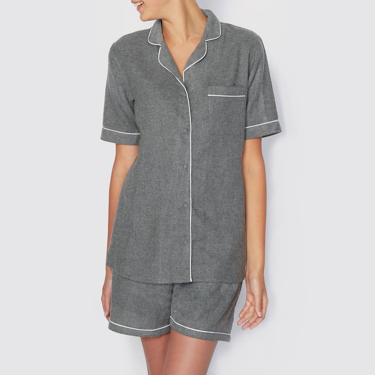 Пижама с шортами и курткой с короткими рукавами