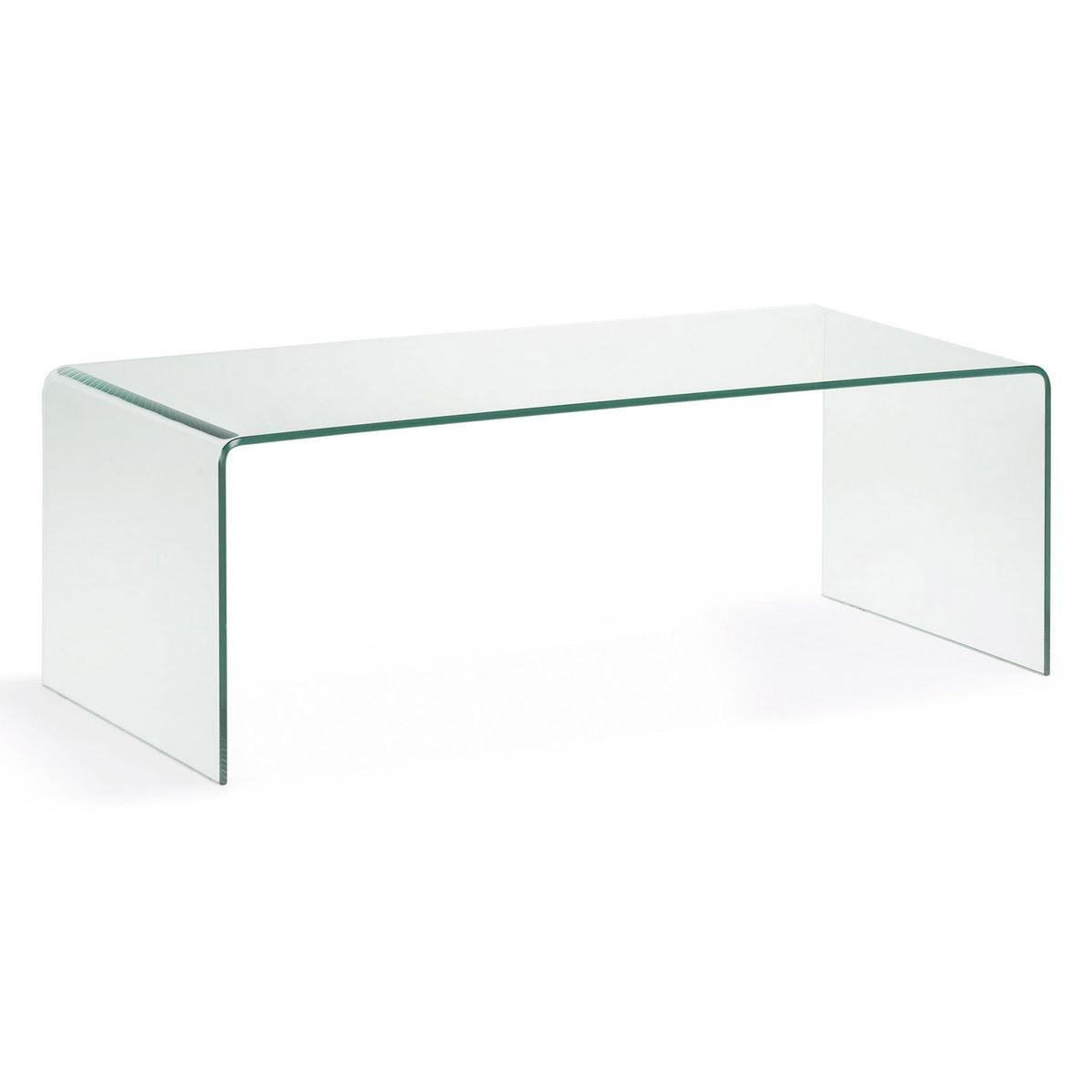 Une table basse en verre