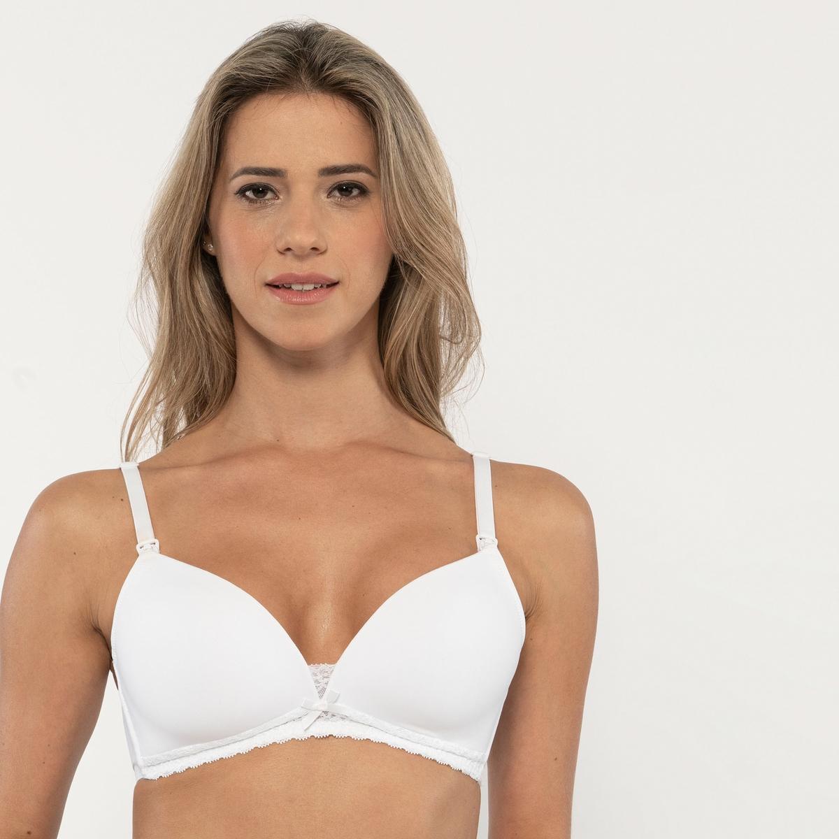 Бюстгальтер La Redoute Для периода грудного вскармливания MAY B белый бюстгальтер la redoute для периода грудного вскармливания b черный