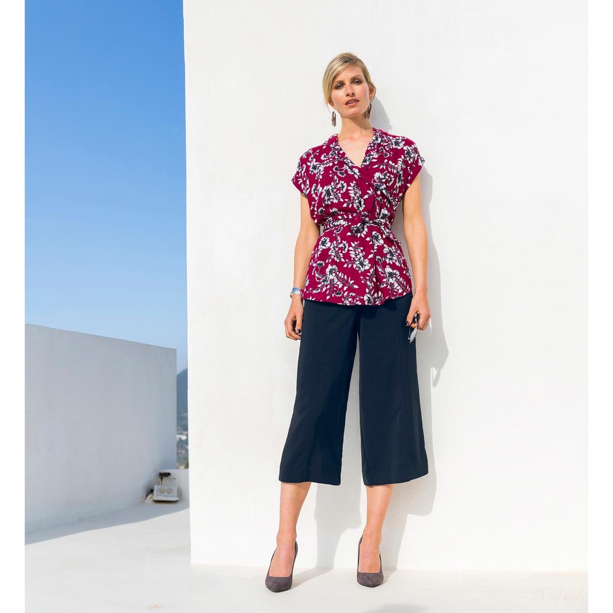Imagen principal de producto de Falda pantalón ancha, con pliegue delante y detrás - Anne weyburn