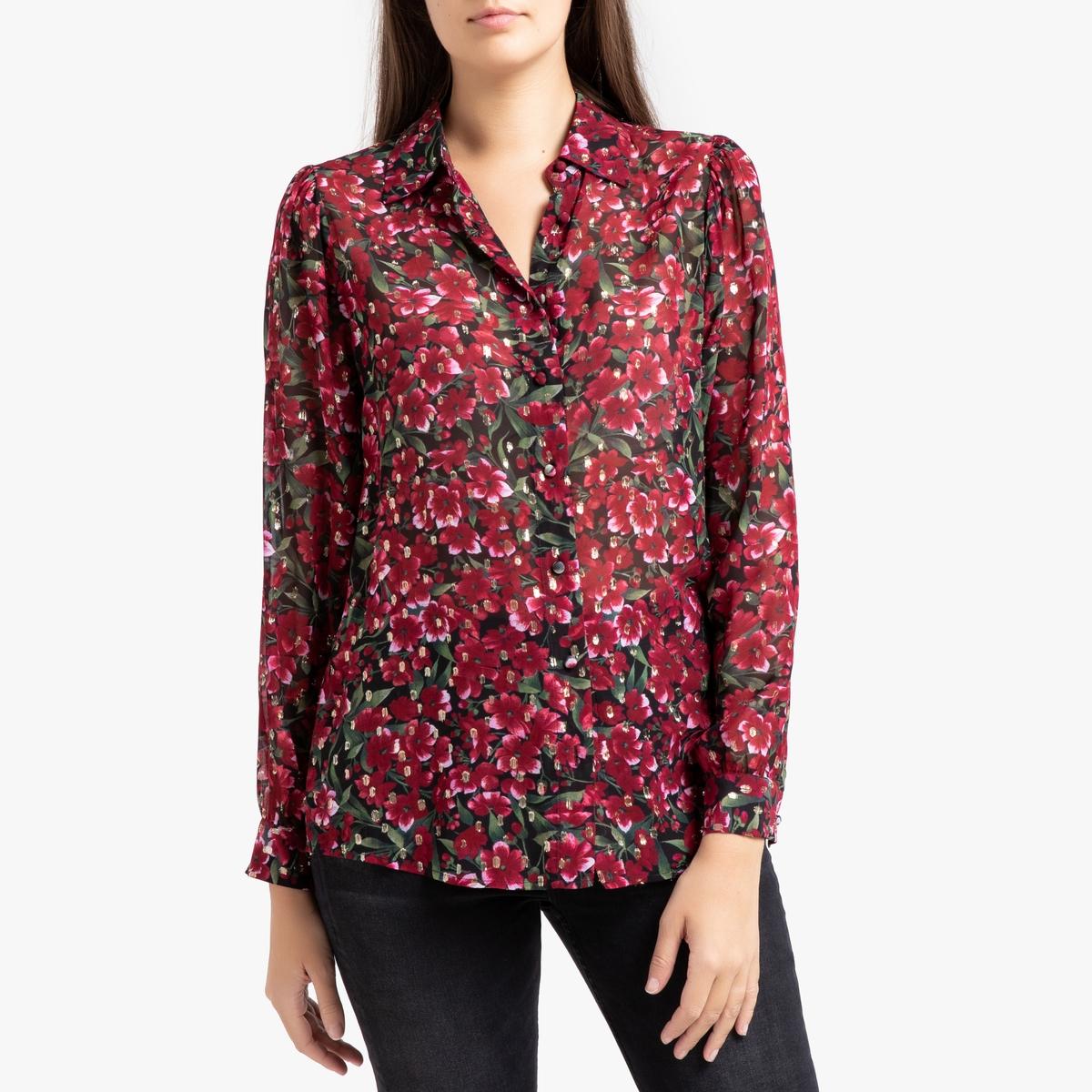 купить Рубашка La Redoute С длинными рукавами 4(XL) красный по цене 15449 рублей