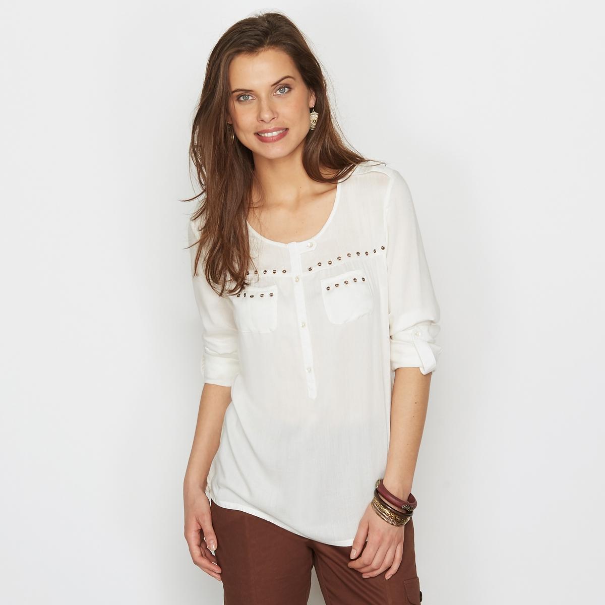 Блузка из струящейся ткани с отделкой блестками от ANNE WEYBURN