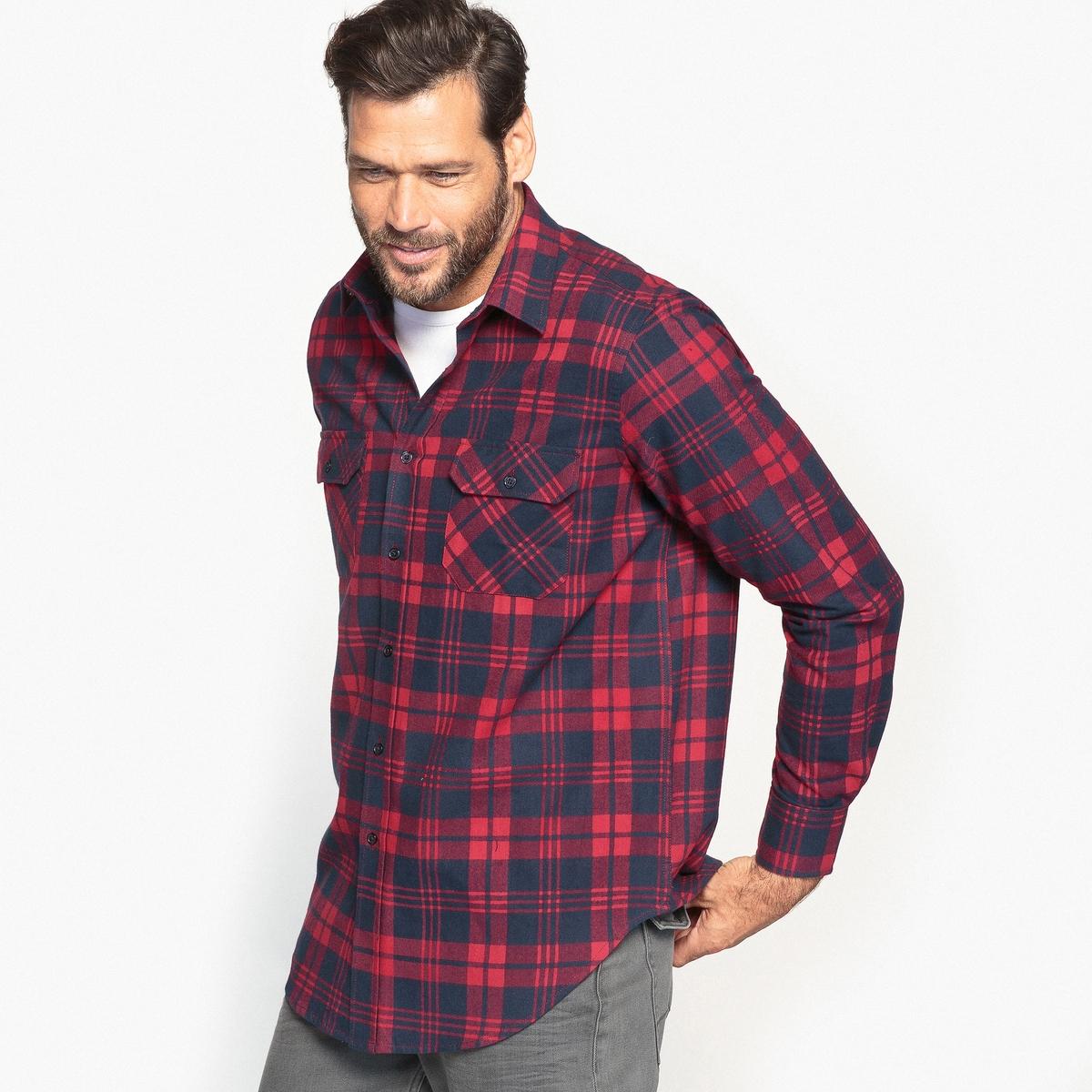 Рубашка в клетку с длинными рукавами рубашка в клетку из денима gamix3