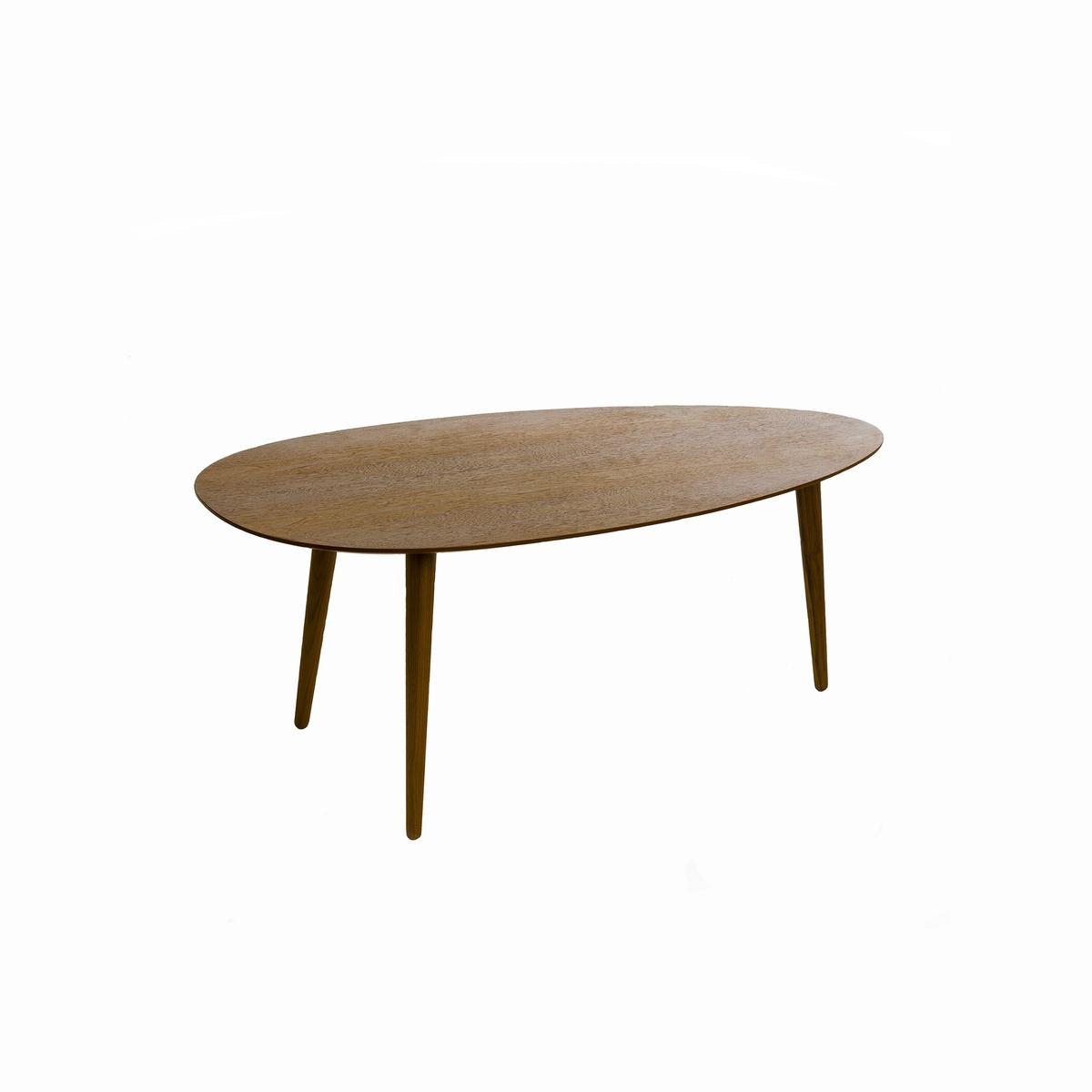 Журнальный La Redoute Столик из каучукового дерева с лакированным покрытием Дл100 см Flashback единый размер каштановый