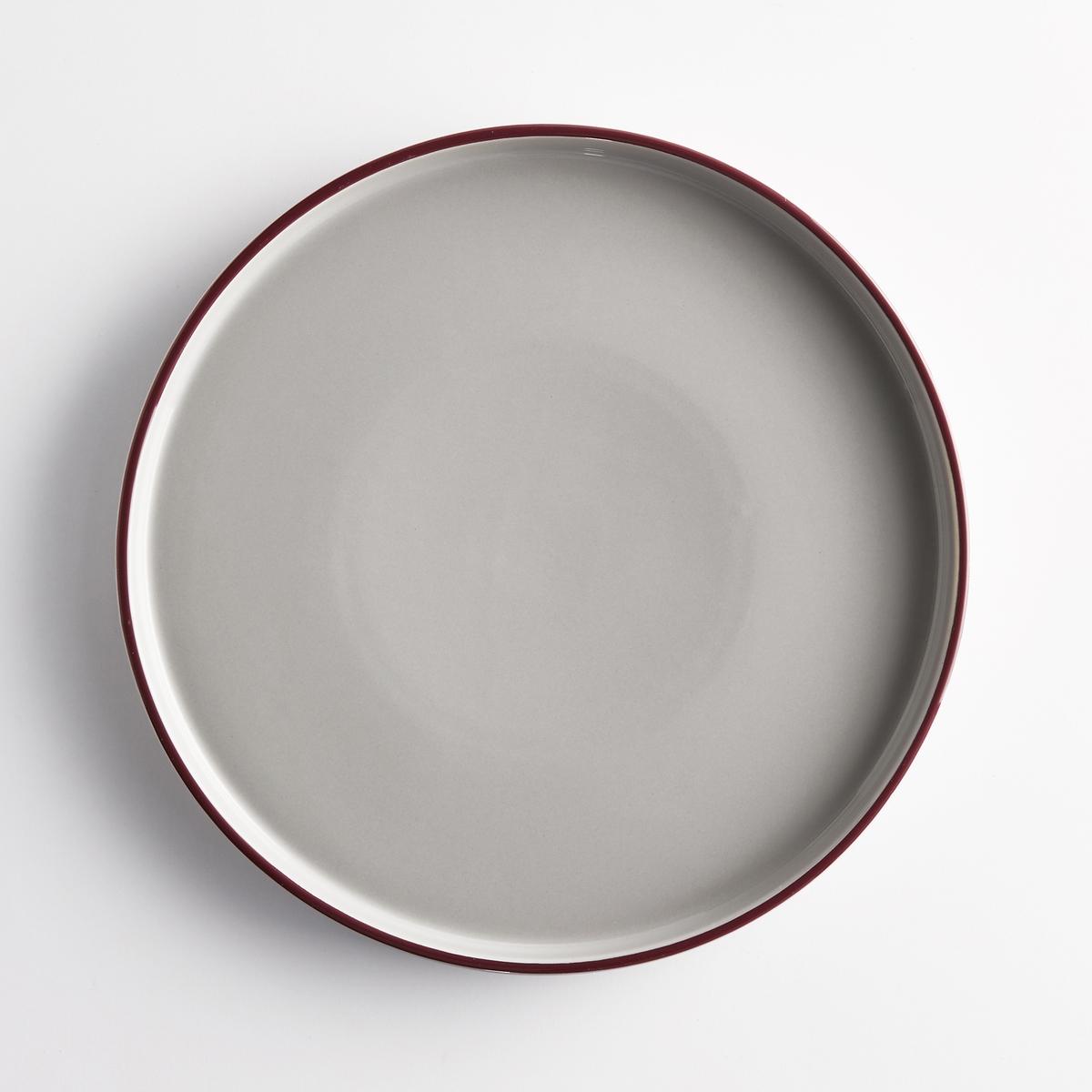 Тарелка плоская керамическая (4 шт.) DRISKOLХарактеристики 4 разноцветных плоских тарелок Driskol :Из керамики.Разноцветный геометрический рисунок.Размеры 4 разноцветных плоских тарелок Driskol :диаметр 27 смРасцветка :Серая с каймой контрастного цвета.Другие тарелки и предметы декора стола вы можете найти на сайте laredoute.ru<br><br>Цвет: разноцветный