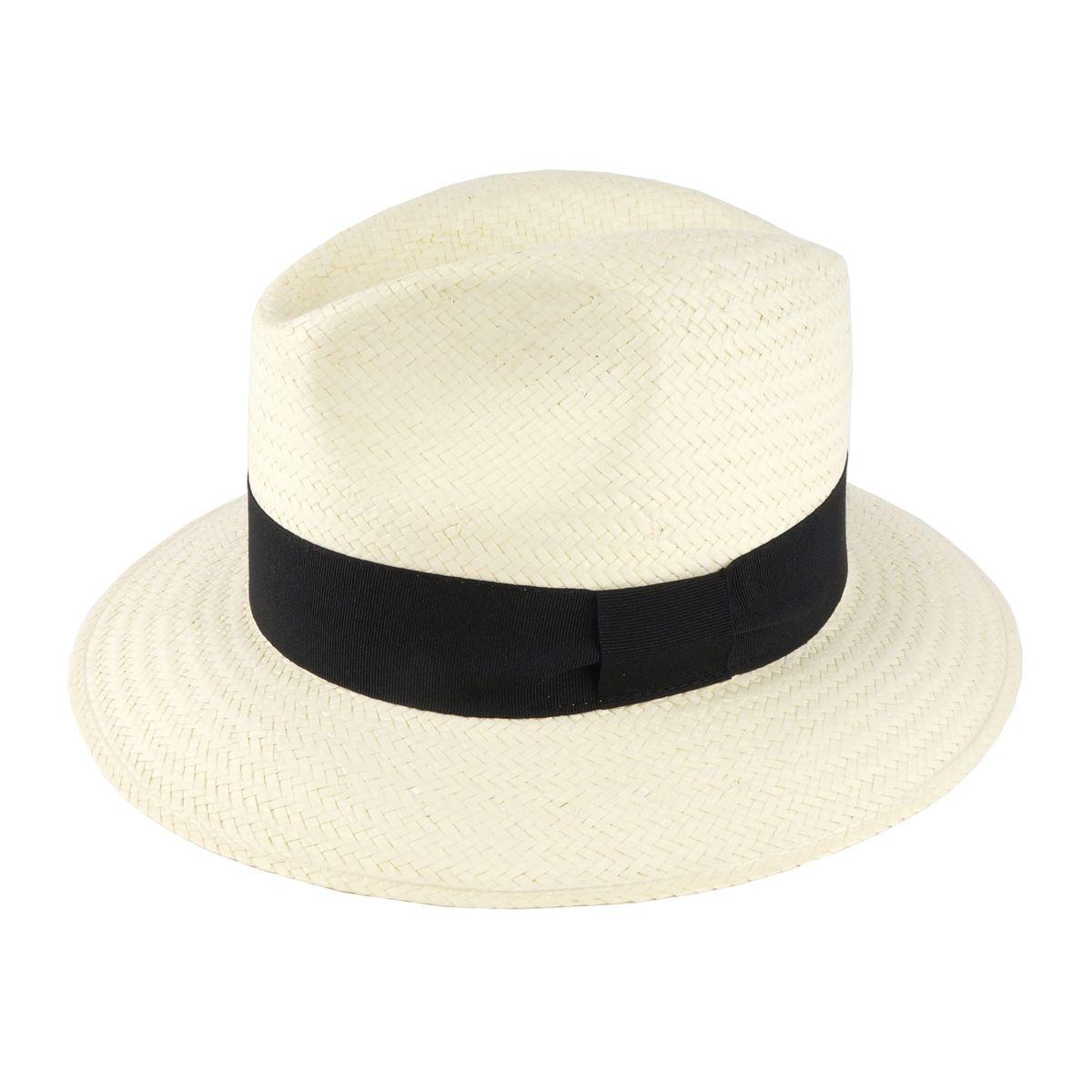 Chapeau de plage Panama Noir