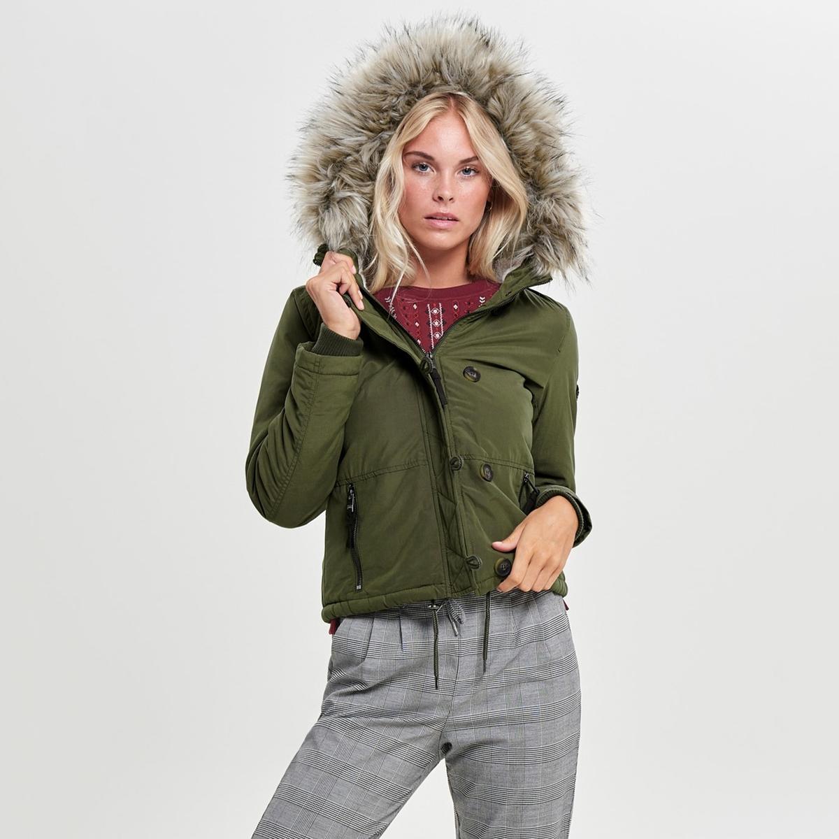 Парка La Redoute Короткая с застежкой на молнию и пуговицы XS зеленый пиджак с застежкой на пуговицы sartorio