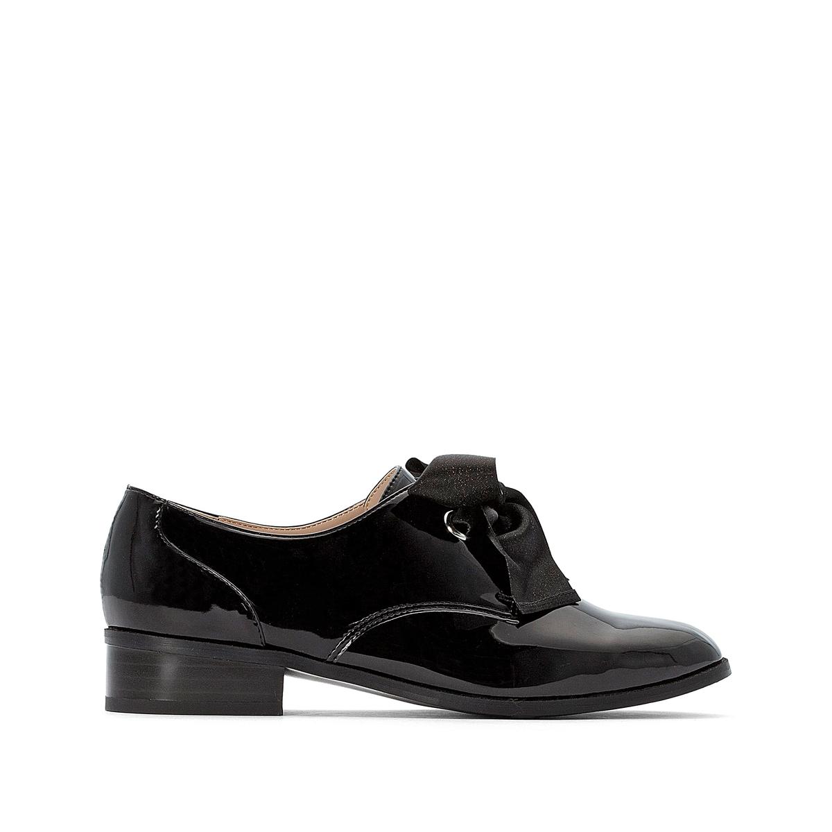 цена Ботинки-дерби La Redoute На шнуровке из лент 36 черный онлайн в 2017 году