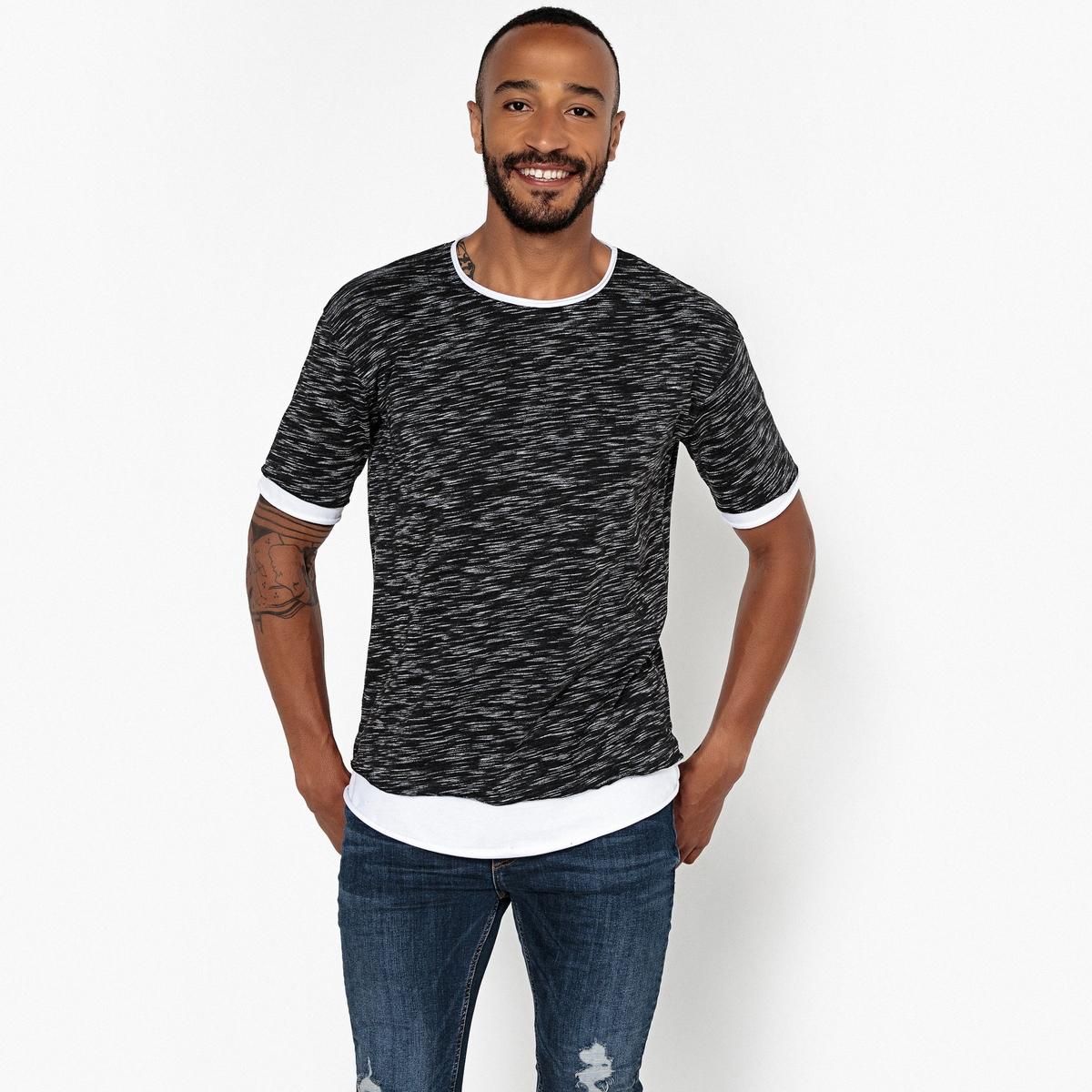 T-shirt oversize de gola redonda, mangas curtas