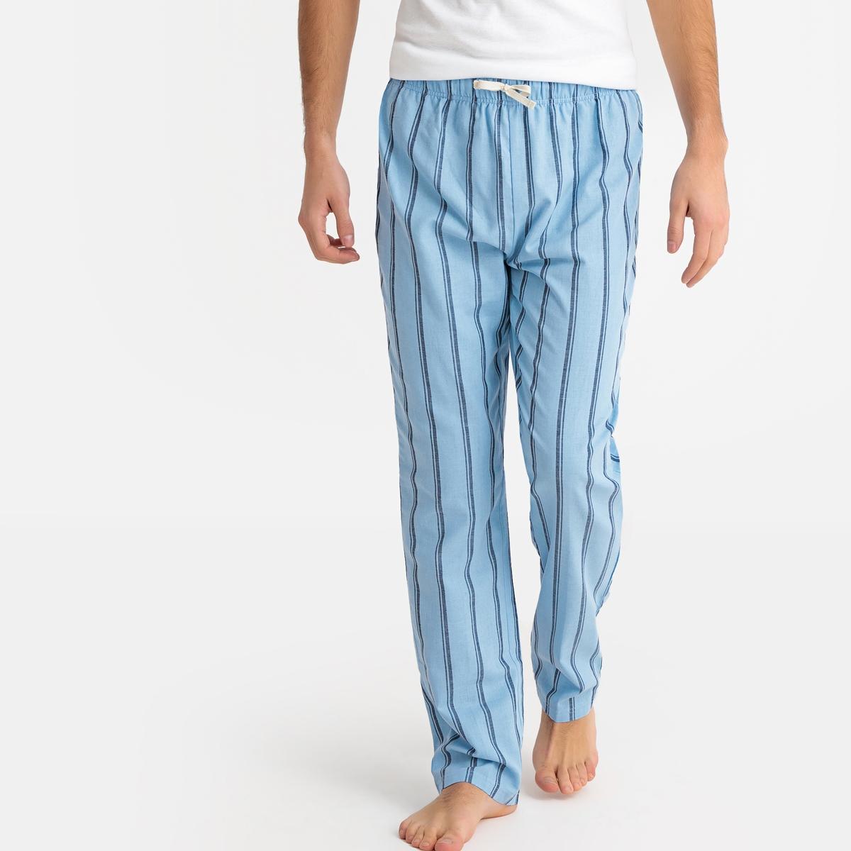 Calças de pijama às riscas, cós elástico