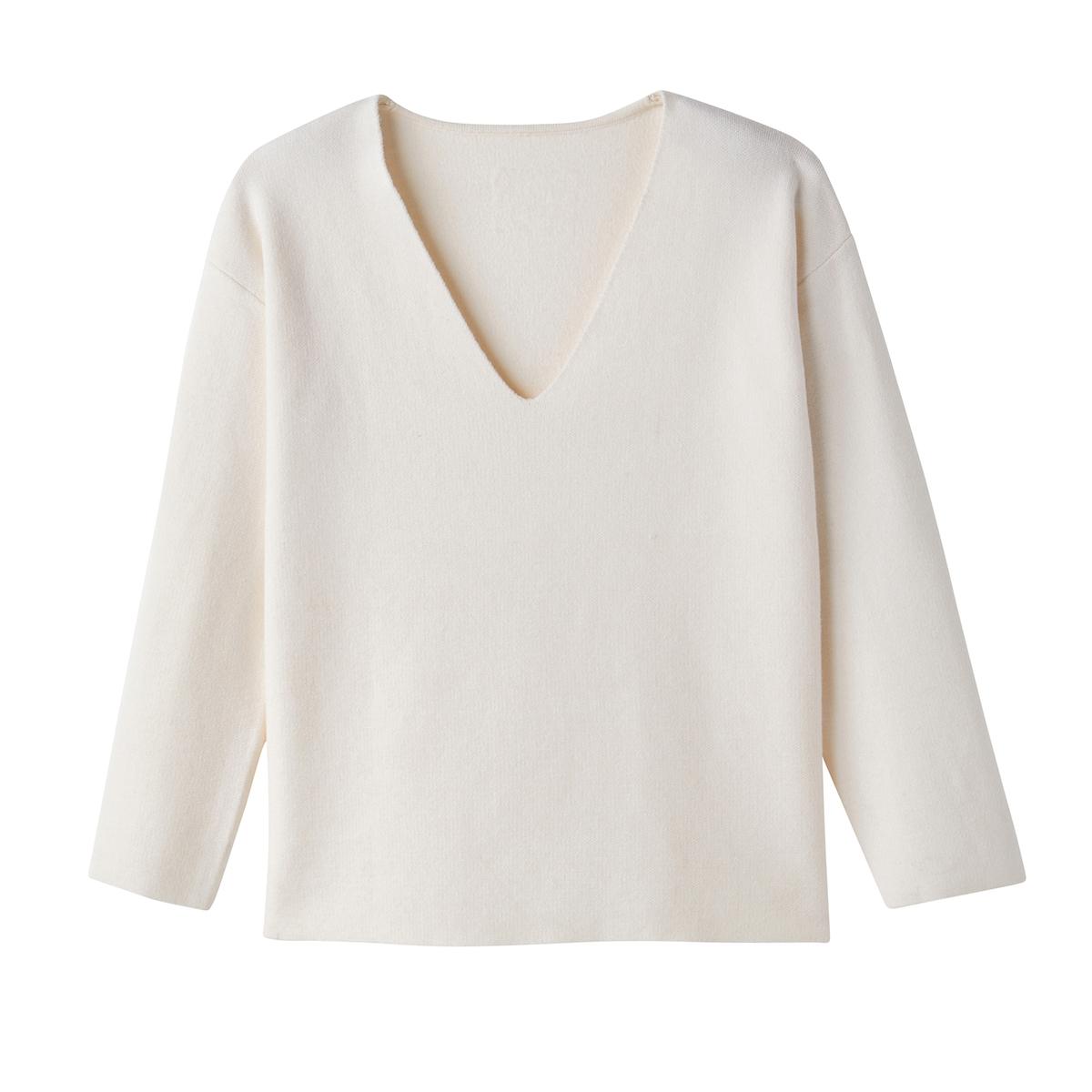 Пуловер из вискозы, с V-образным вырезом
