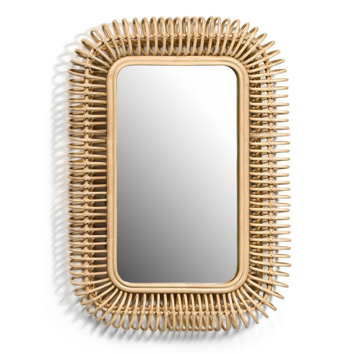 Зеркало из ротанга Д90 x В60 см, TarsileЗеркало Tarsile. Добавит естественных штрихов в ваш интерьер… Используется отдельно или с зеркалами других размеров Tarsile, представленными на сайте. Характеристики: : - Из ротанга натурального или черного цвета, задняя часть из МДФ. - Крепится на стене с помощью 2 пластин. - Вешается горизонтально или вертикально. Размеры : - Ш 90 x В 60 x Г 7 см.    Размеры и вес упаковки : - Ш 61,5 x В 93 x Г 11 см, 5,8 кг<br><br>Цвет: серо-бежевый