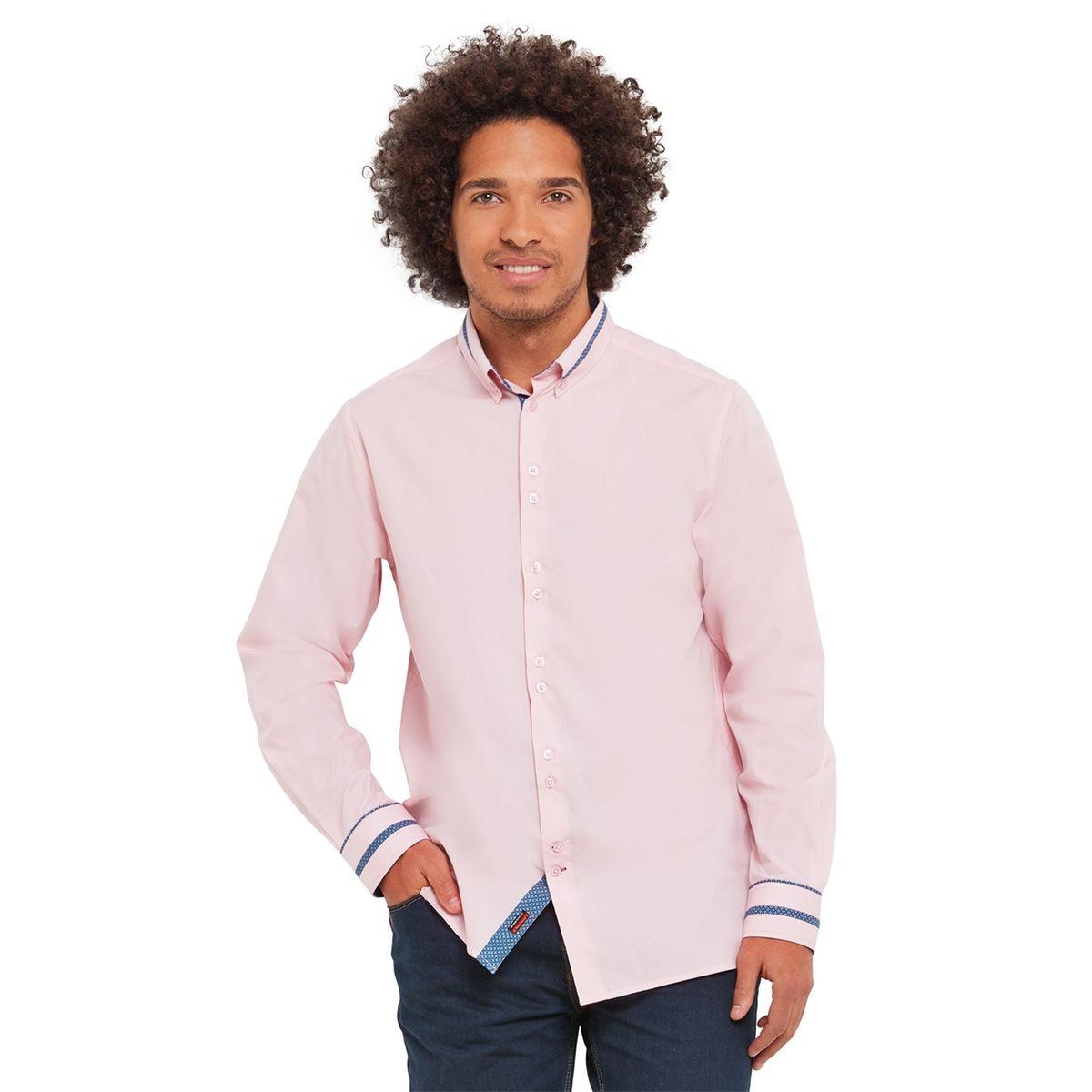 Chemise à manches longues unies avec détail au col Joe Browns Homme