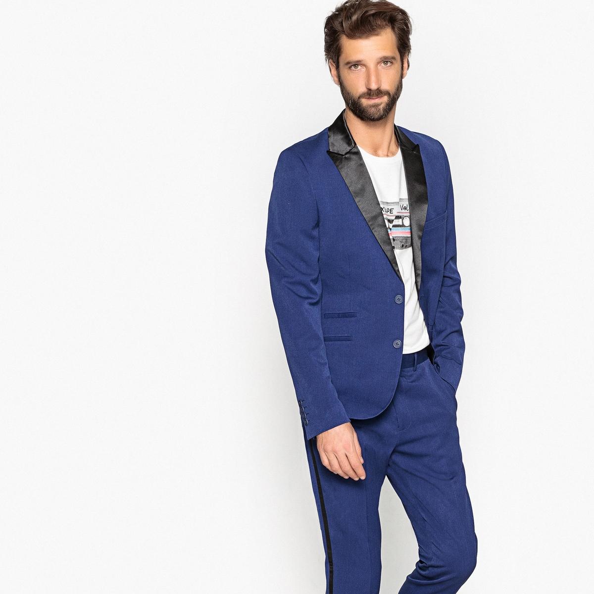 Пиджак La Redoute Костюмный приталенного покроя 54 синий шорты la redoute плавательные с принтом джунгли мес года 18 мес 81 см синий