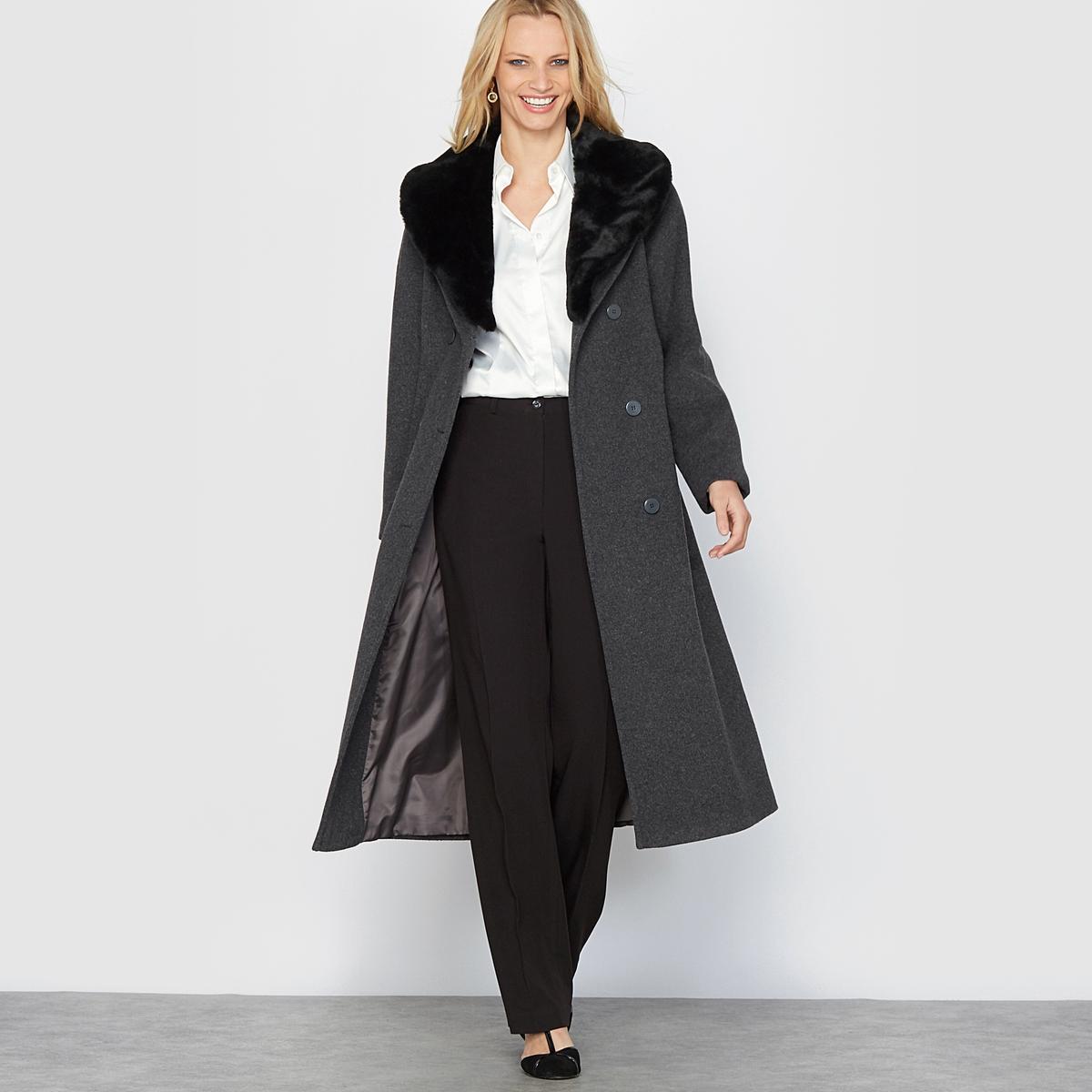 Пальто из шерстяного велюра от La Redoute