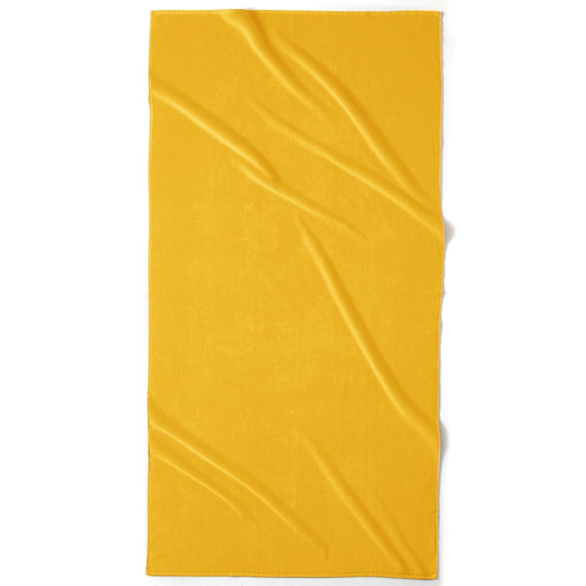 Полотенце La Redoute Пляжное из велюра 420 гм SCENARIO единый размер желтый комплект из банных принадлежностей la redoute из махровой ткани гм scenario единый размер белый