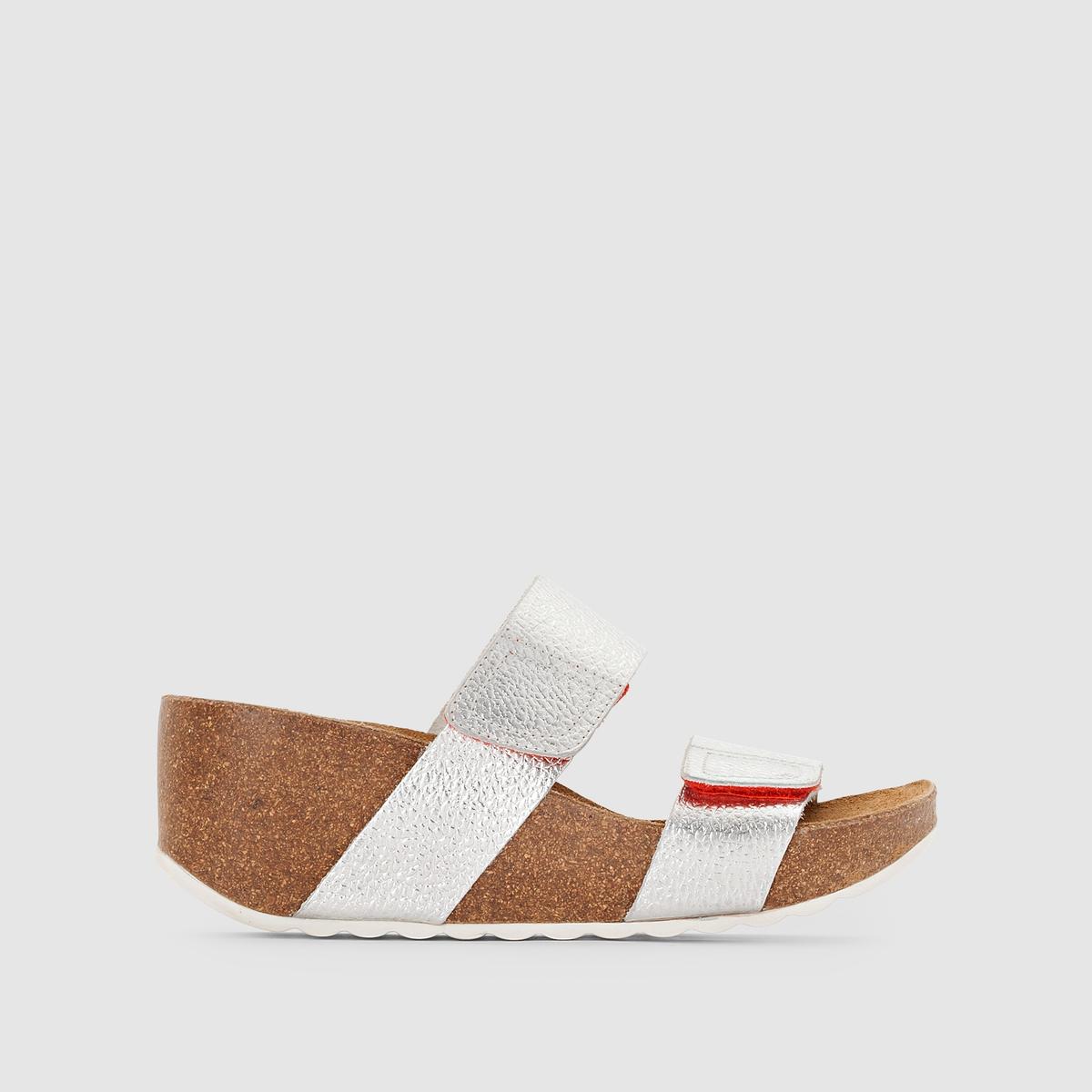 Туфли без задника Belsana, Hush PuppiesМодная модель на платформе, отличная кожа с металлическим блеском, широкие планки-велкро : туфли без задника, которые легко и быстро снять !<br><br>Цвет: черный<br>Размер: 37