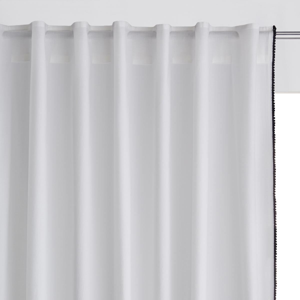 Штора тонкая с кисточками, PomponХарактеристики шторы  :Материал : брезентовая ткань, 100% хлопокПодшитый низ. Отделка скрытыми клапанами. Описание кисточек по бокам. Контрастного цвета. Уход: : Машинная стирка при 40 °С.Размеры шторы : 180 x 140 см. 250 x 140 см. 350 x 140 см.Знак Oeko-Tex® гарантирует, что товары прошли проверку и были изготовлены без применения вредных для здоровья человека веществ.Уход: :Следуйте рекомендациям по уходу, указанным на этикетке изделия.<br><br>Цвет: экрю