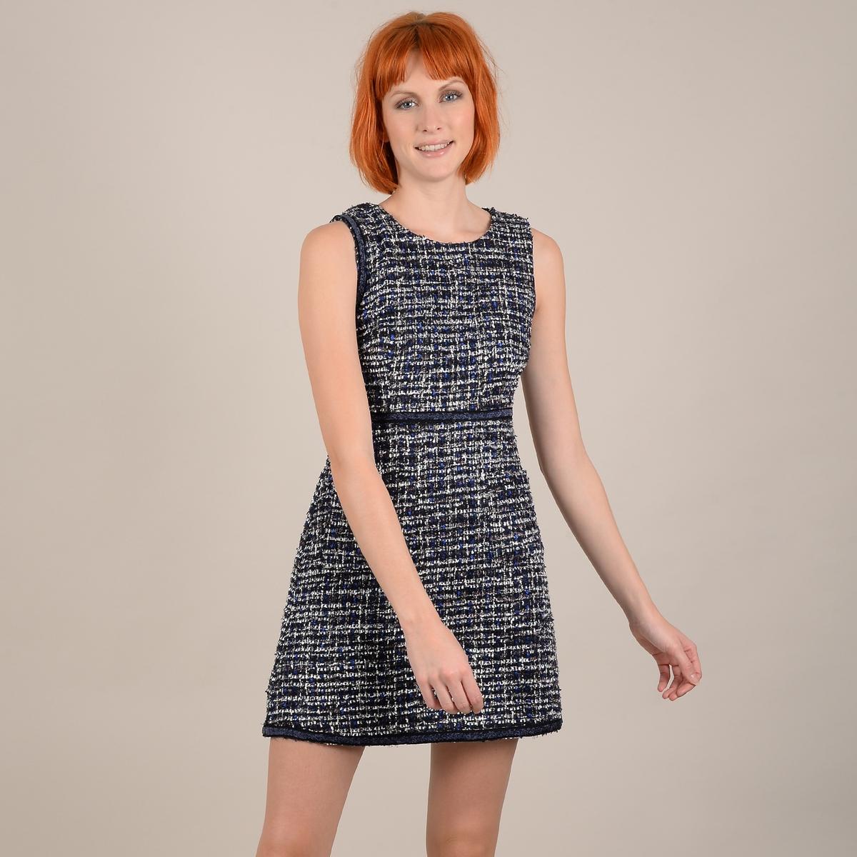 Платье La Redoute Прямое короткое без рукавов M синий