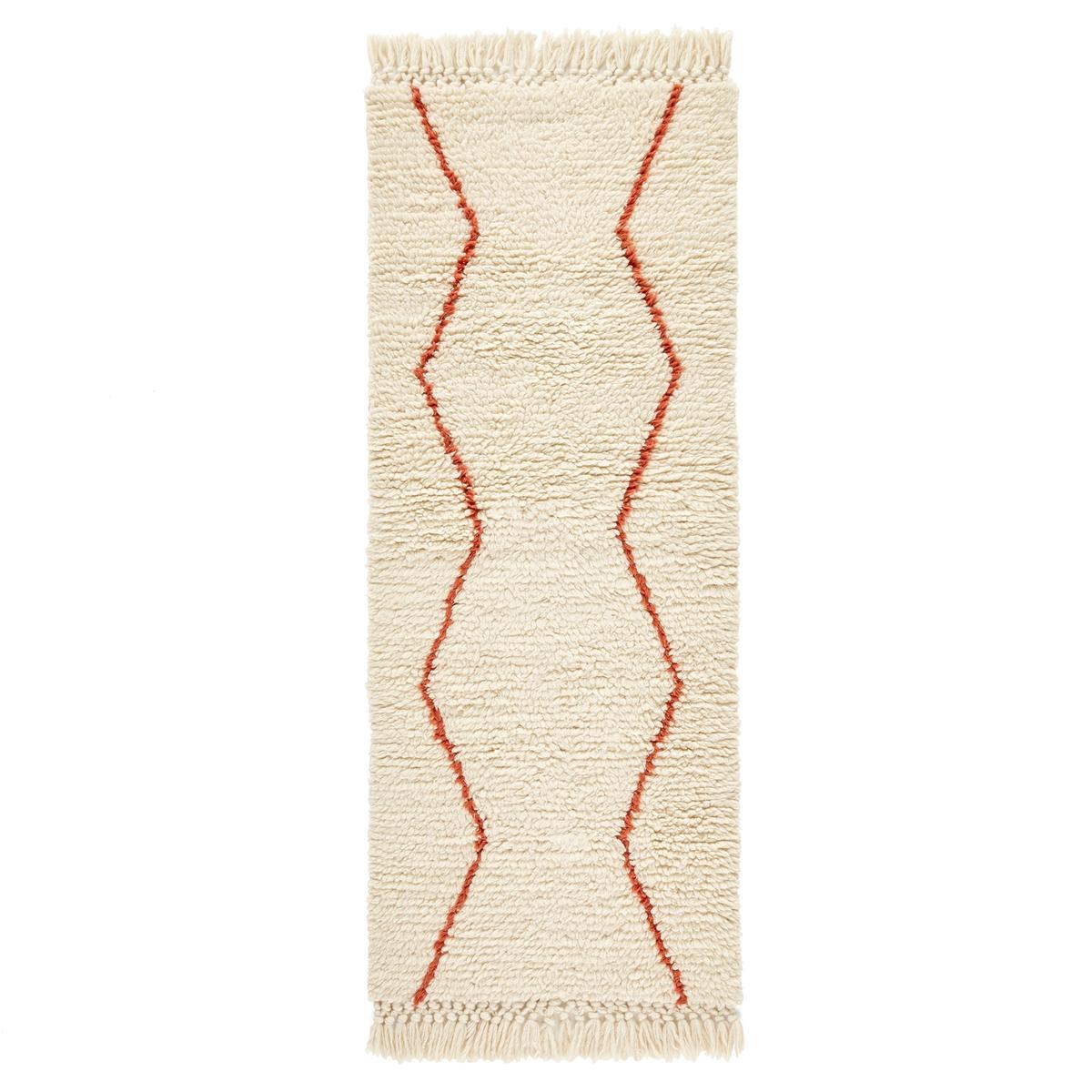 Дорожка La Redoute Ковроваяв берберском стиле Nyborg 80 x 200 см бежевый ковер la redoute в берберском стиле из шерсти tekouma 120 x 180 см бежевый