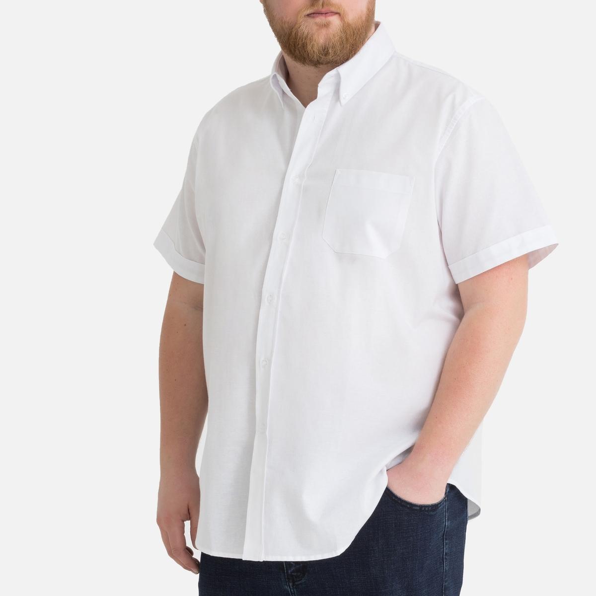 Рубашка La Redoute Прямого покроя большого размера 47/48 белый