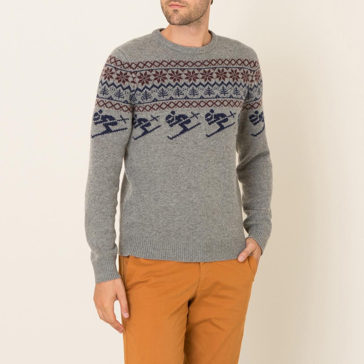 Пуловер жаккардовыйСостав и описание Материал : 80% мериносовой шерсти, 20% полиамидаМарка : HARTFORD<br><br>Цвет: серый