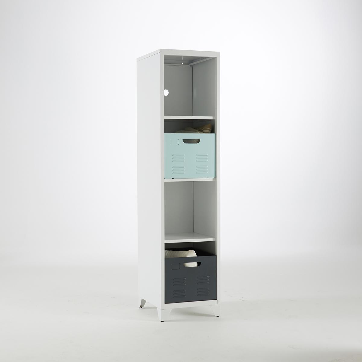 Columna con 4 estantes de metal, Hiba