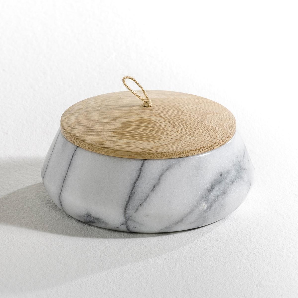 Горшок цветочный круглый из мрамора, EdwaldХарактеристики: - Выполнен из белого мрамора каждое изделие уникально, а рисунок на нем может отличаться от образца.- Крышка из натурального дуба с ручкой из сизаля.Размеры:- ?13,8 x В. 5 см.<br><br>Цвет: белый мрамор<br>Размер: единый размер