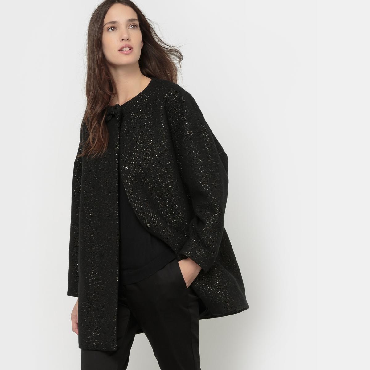 Пальто с блеском