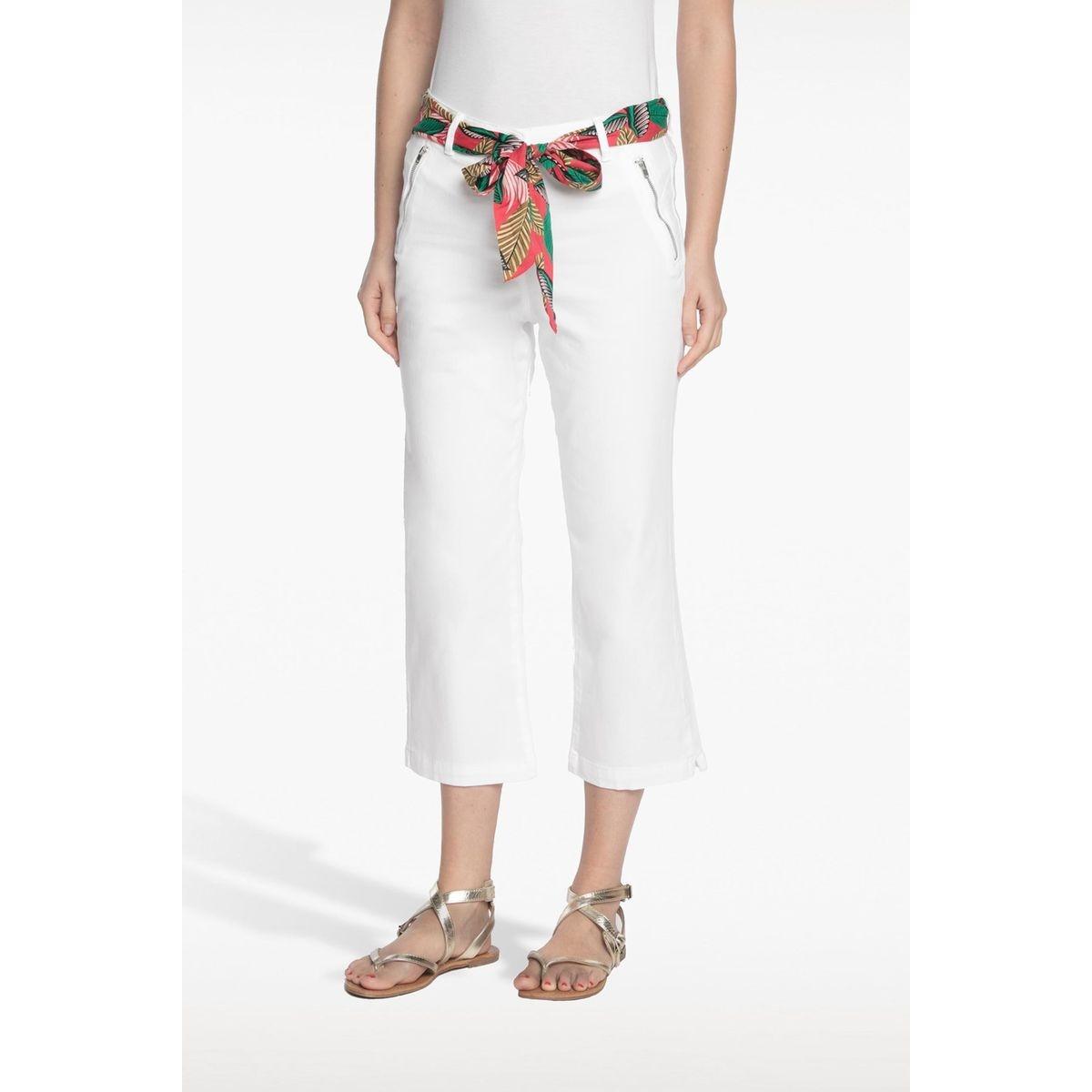 Pantalon avec ceinture foulard imprimée