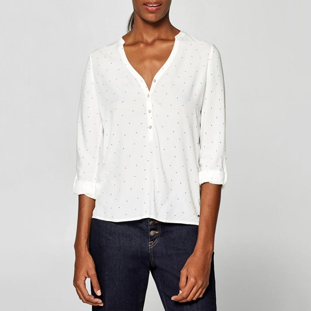 Blusa cuello tunecino manga larga