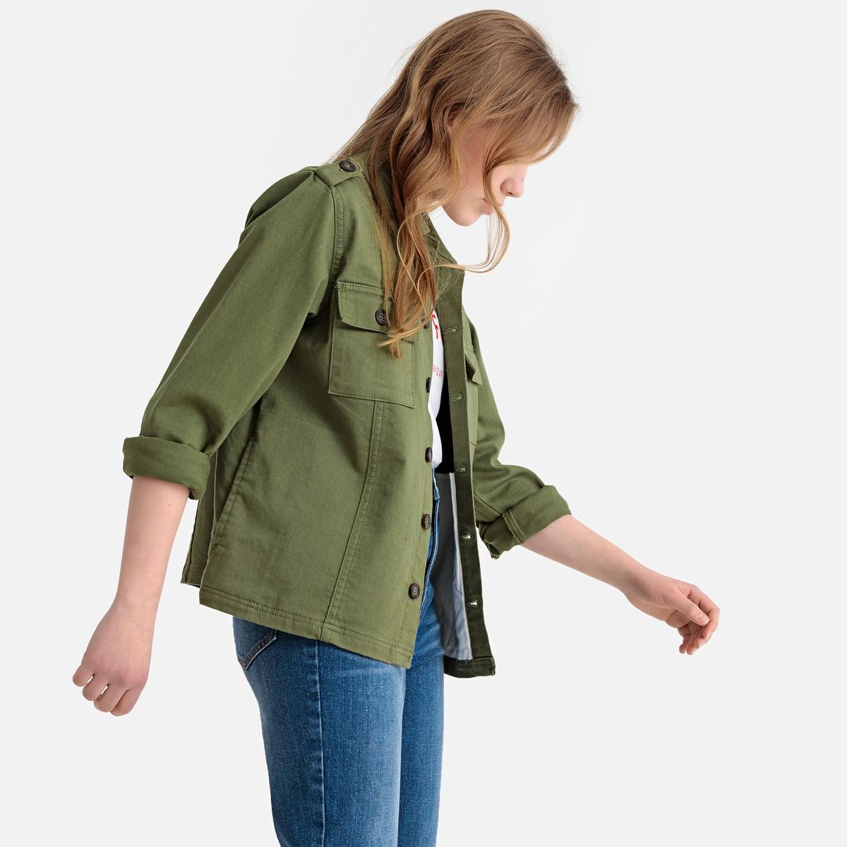 Жакет-сафари La Redoute Демисезонный 10 лет - 138 см зеленый брюки la redoute 10 лет 138 см зеленый