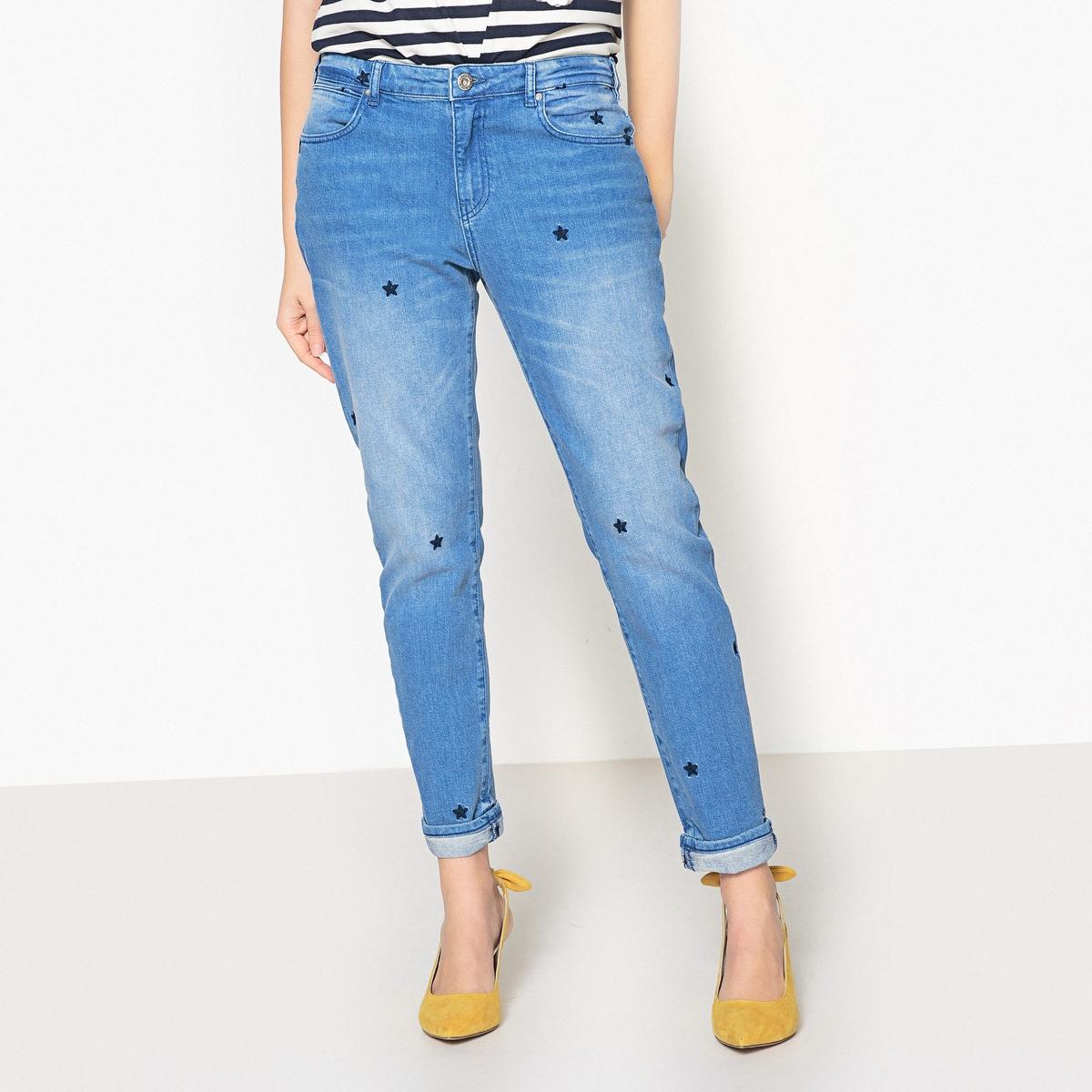 Джинсы-скинни с вышивками джинсы скинни длина 32