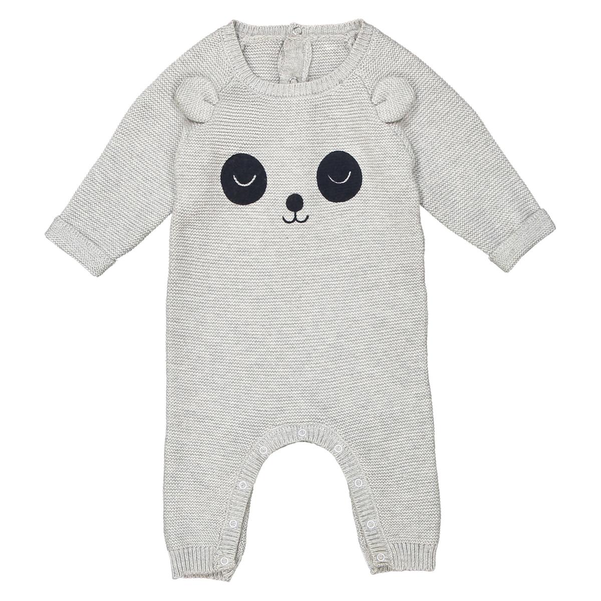 Комбинезон с рисунком панда из трикотажа, 0 мес. - 2 года комбинезон с шортами с тропическим рисунком на 1 мес 3 года