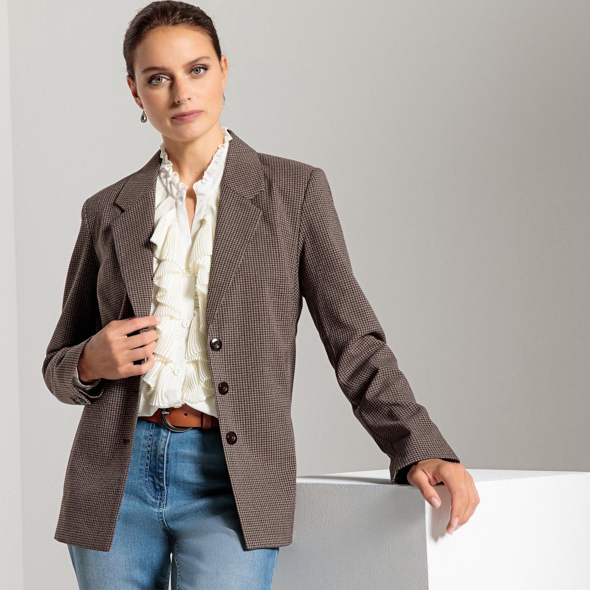 Жакет-блейзер прямой, Prince de Galles жакет джинсовый pinner прямой покрой