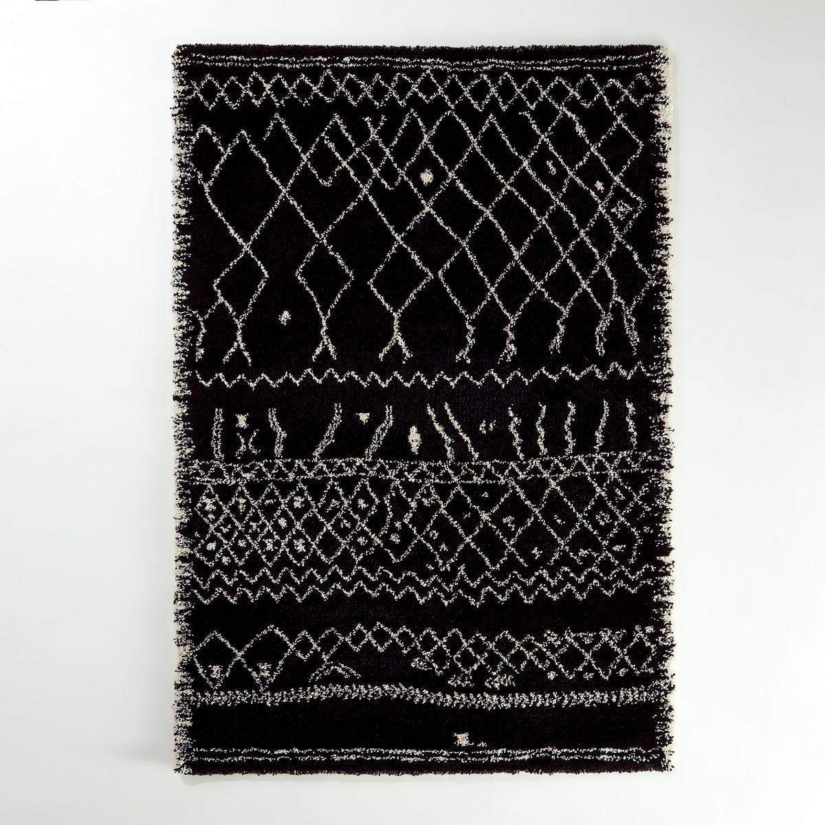 Tapis Style Berbere 3 Tailles Afaw Noir Blanc Interieurs