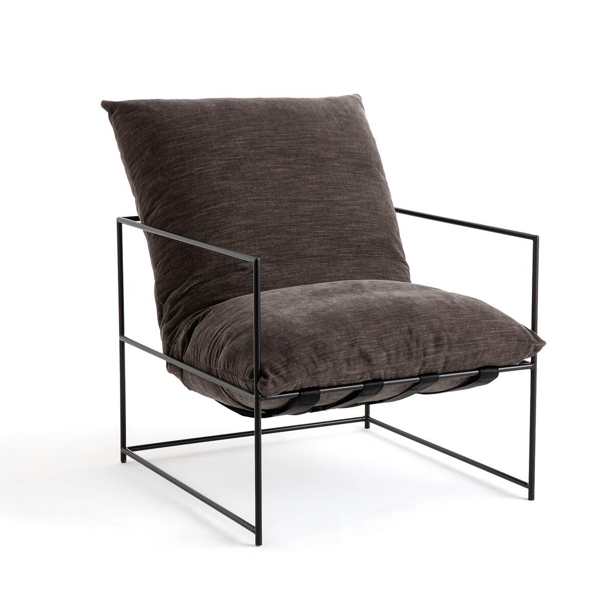 Кресло LaRedoute Из металла Sgothan единый размер серый