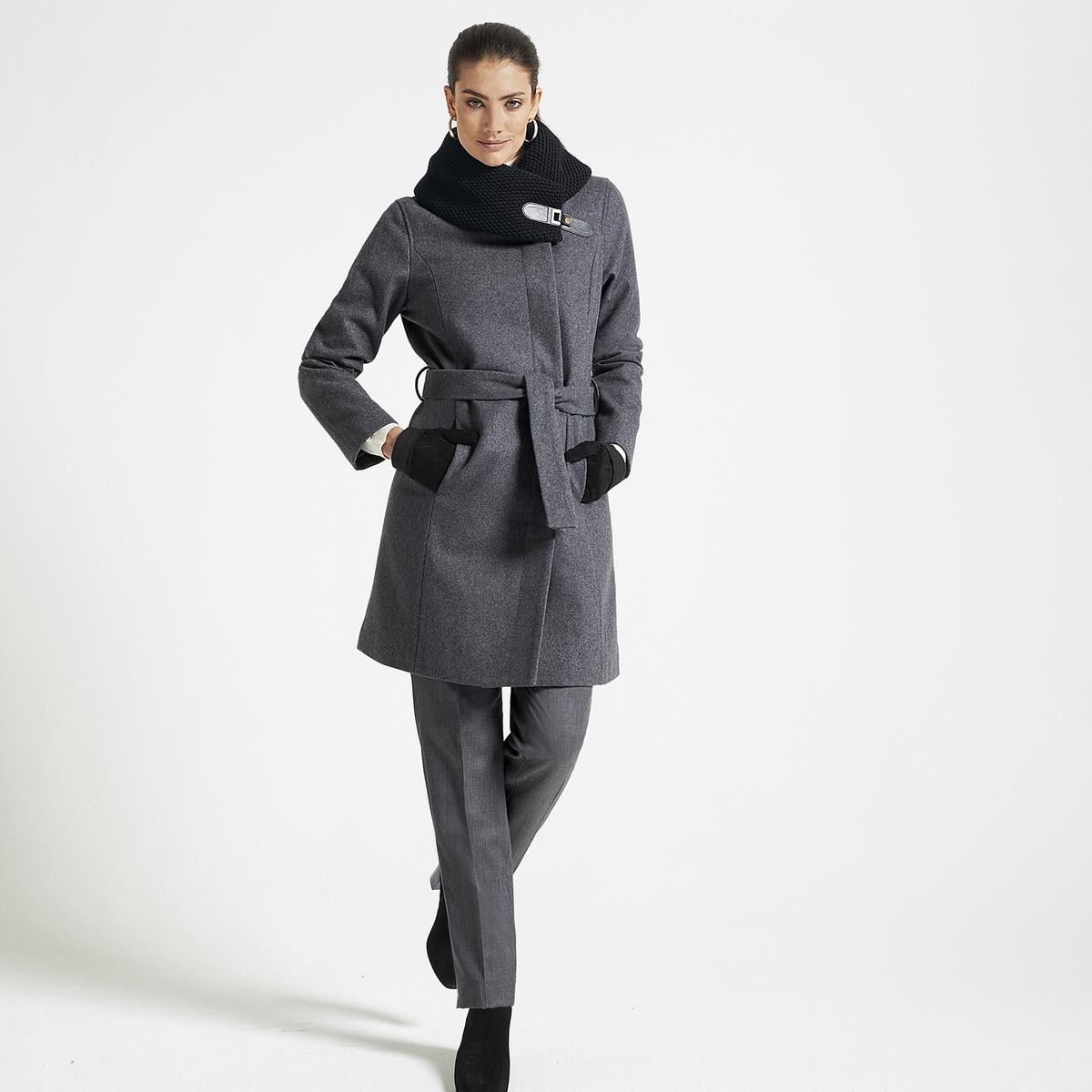 Imagen secundaria de producto de Abrigo con cinturón de lana mezclada - Anne weyburn