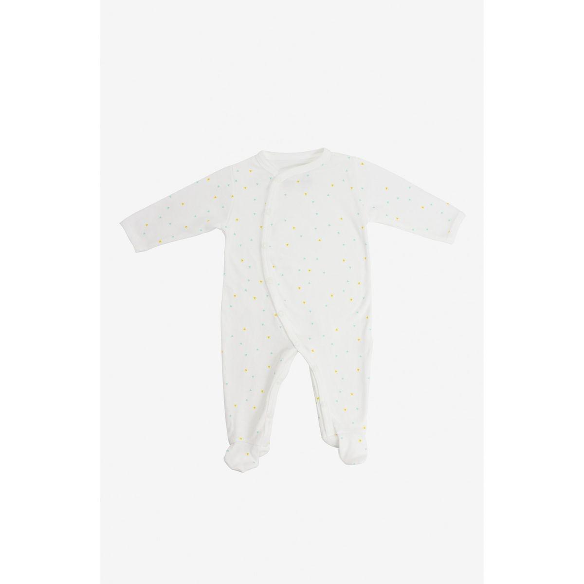 Pyjama bébé été en jersey de coton bio motifs triangles