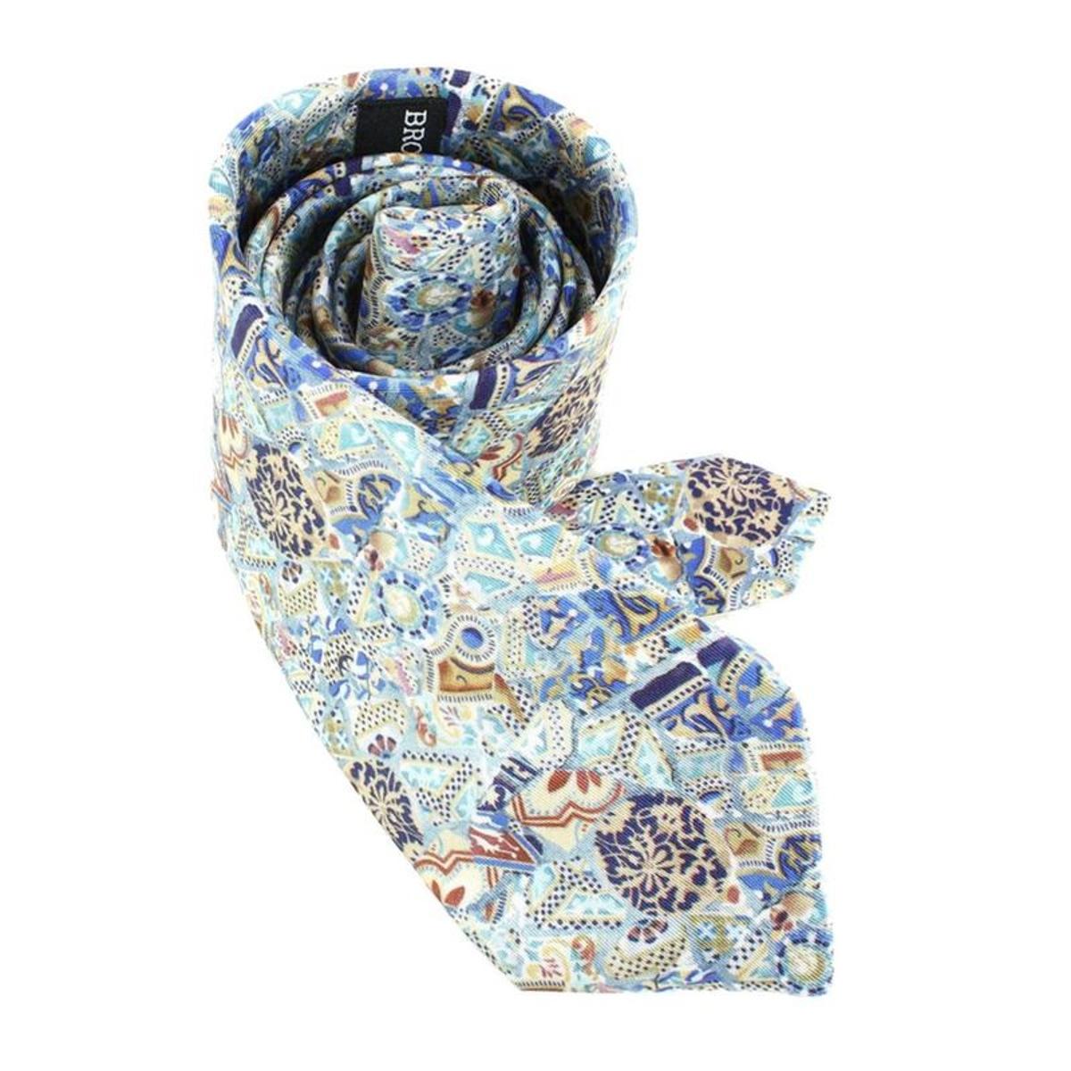 Cravate Lyonnaise  en soie  GAUDI ORIENT, Made in France