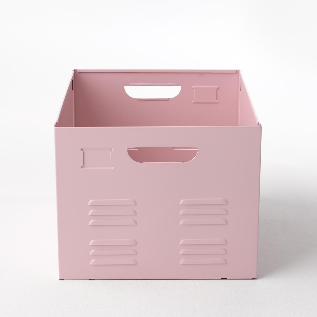 Ящик металлический HibaМеталлический ящик Hiba. Можно использовать как выдвижной ящик для мебели Hiba или поставить его туда, где он Вам больше всего необходим. 2 практичные ручки позволяют перемещать ящик в любое место.Вся коллекция Hiba на сайте laredoute.ru. Описание ящика Hiba:2 металлические ручки.Характеристики ящика Hiba:Металл, лакированное покрытие.Размеры ящика Hiba:Общие:Длина 37,5 см.Ширина 46,6 см.Высота 30,2 см. Размеры и вес упаковки:1 упаковка. 54 x 45 x 12 см. 6,8 кг.Металлический ящик Hiba продается в разобранном виде.<br><br>Цвет: розовый,серый,черный