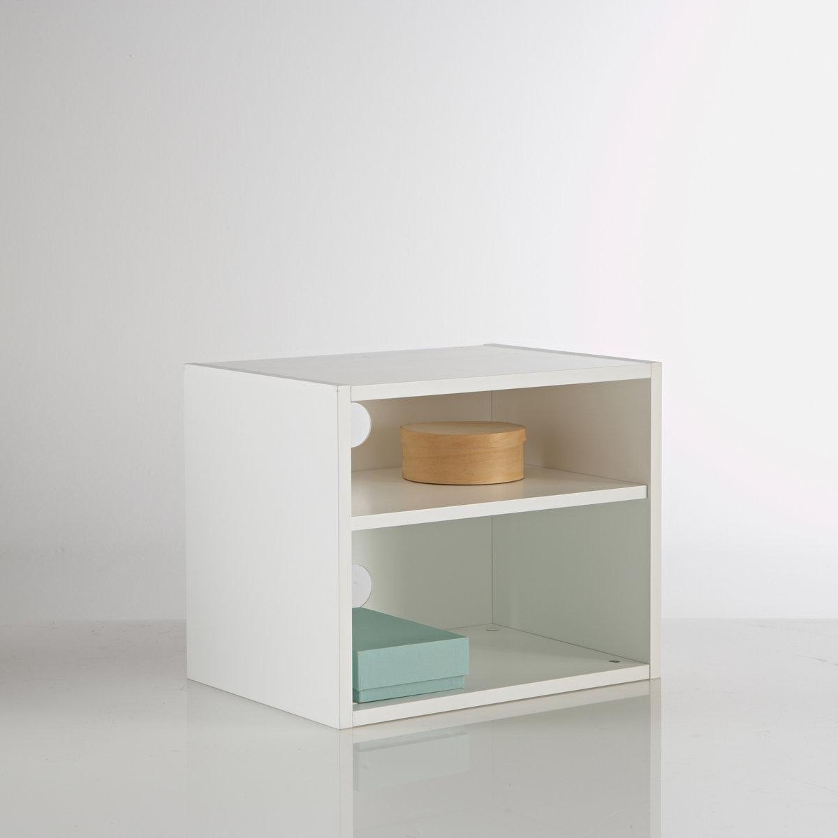 Этажерка, GABIA от Sam BARONЭтажерка с 2 отделениями от SAM BARON :может сочетаться с банкеткой и другой мебелью для создания пространства для хранения вещей или с мебелью для TV . Описание этажерки GABIA :- МДФ с покрытием полиуретановым лаком .- 1 съемная и регулируемая полка, 2 отделения, 2 отверстия для кабеля .- В комплекте - настенный крепеж .- Размер: 48.5 x 40 x 35 см .<br><br>Цвет: белый<br>Размер: единый размер