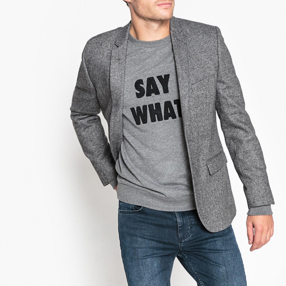 Пиджак костюмный покроя слим из смесового шерстяного материала